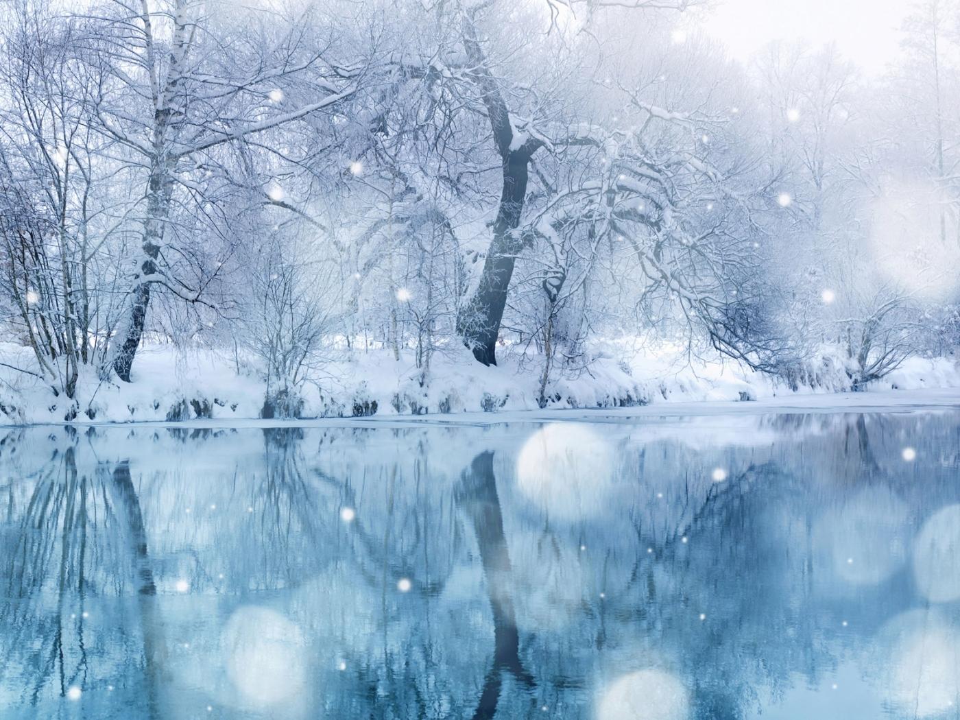 27934 скачать обои Пейзаж, Река, Деревья, Снег - заставки и картинки бесплатно