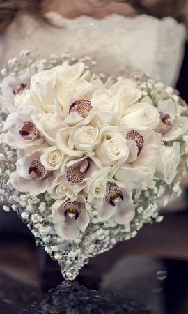 146955 Заставки и Обои Свадьба на телефон. Скачать Любовь, Композиция, Невеста, Свадьба, Букет, Розы картинки бесплатно