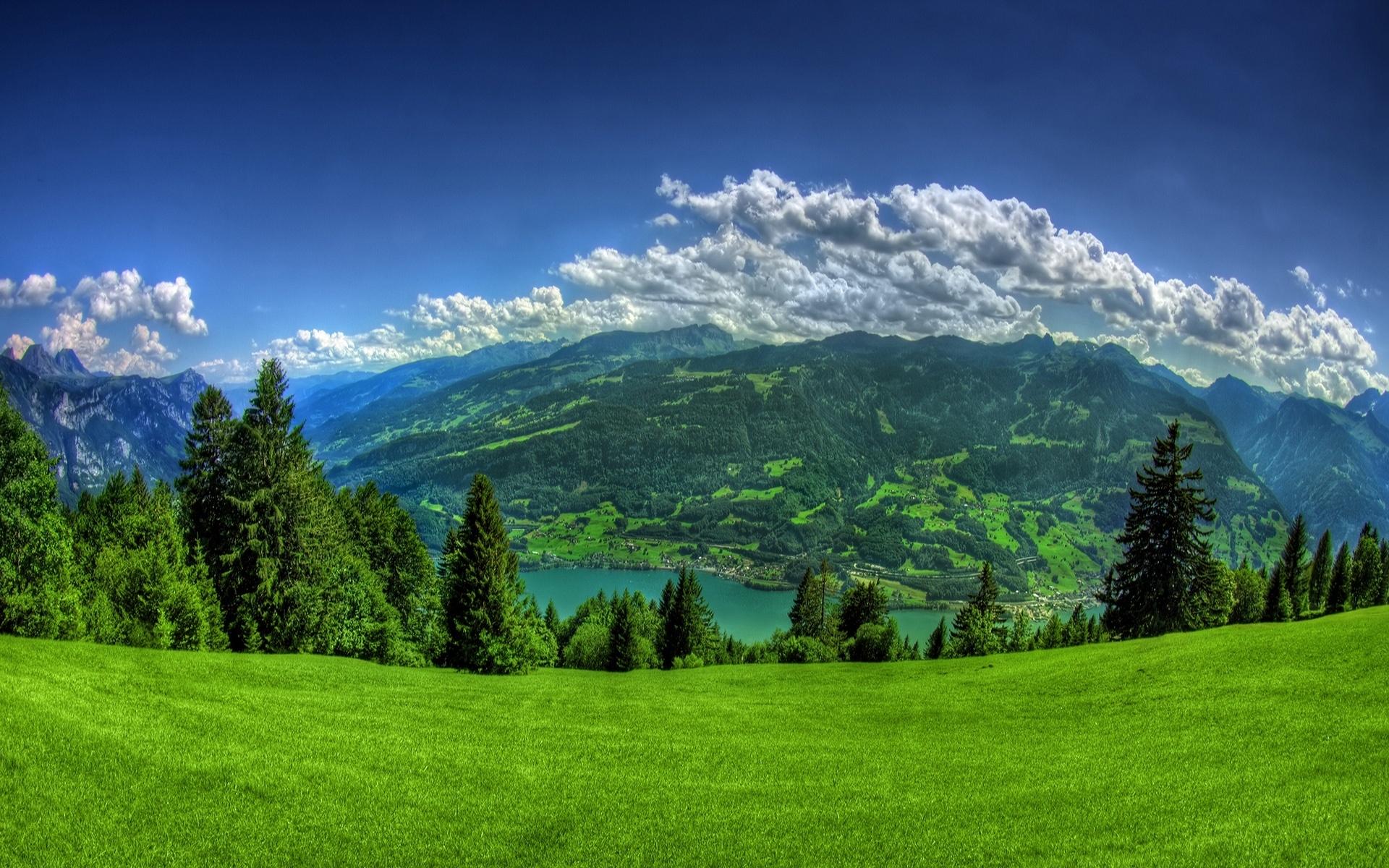 17680 скачать обои Пейзаж, Горы, Облака - заставки и картинки бесплатно