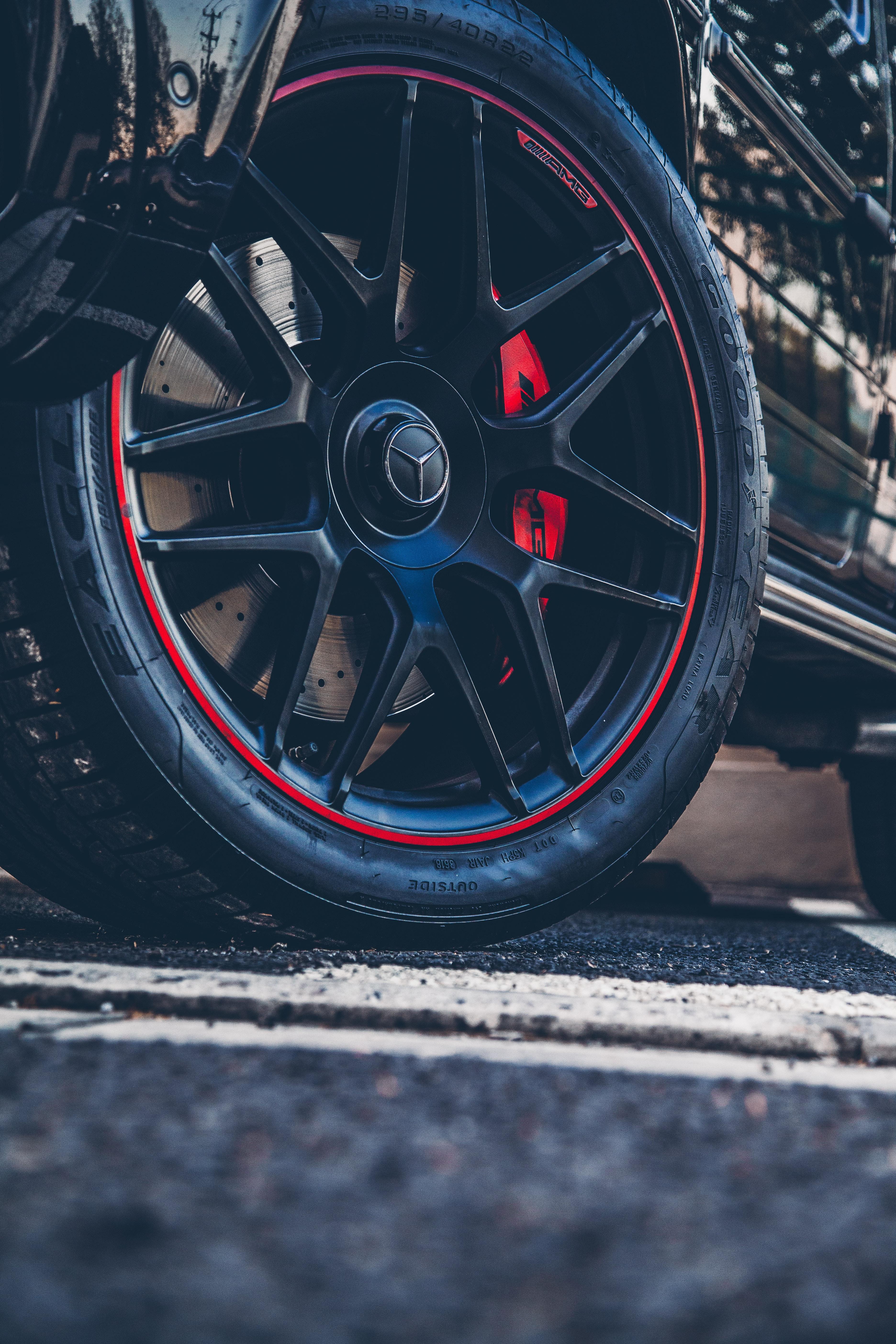 58022 Hintergrundbild herunterladen Mercedes, Auto, Cars, Wagen, Das Schwarze, Rad - Bildschirmschoner und Bilder kostenlos