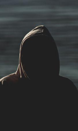 Скачать бесплатно картинку 63702: Темные, Человек, Капюшон, Аноним, Размытие, Темнота обои на телефон