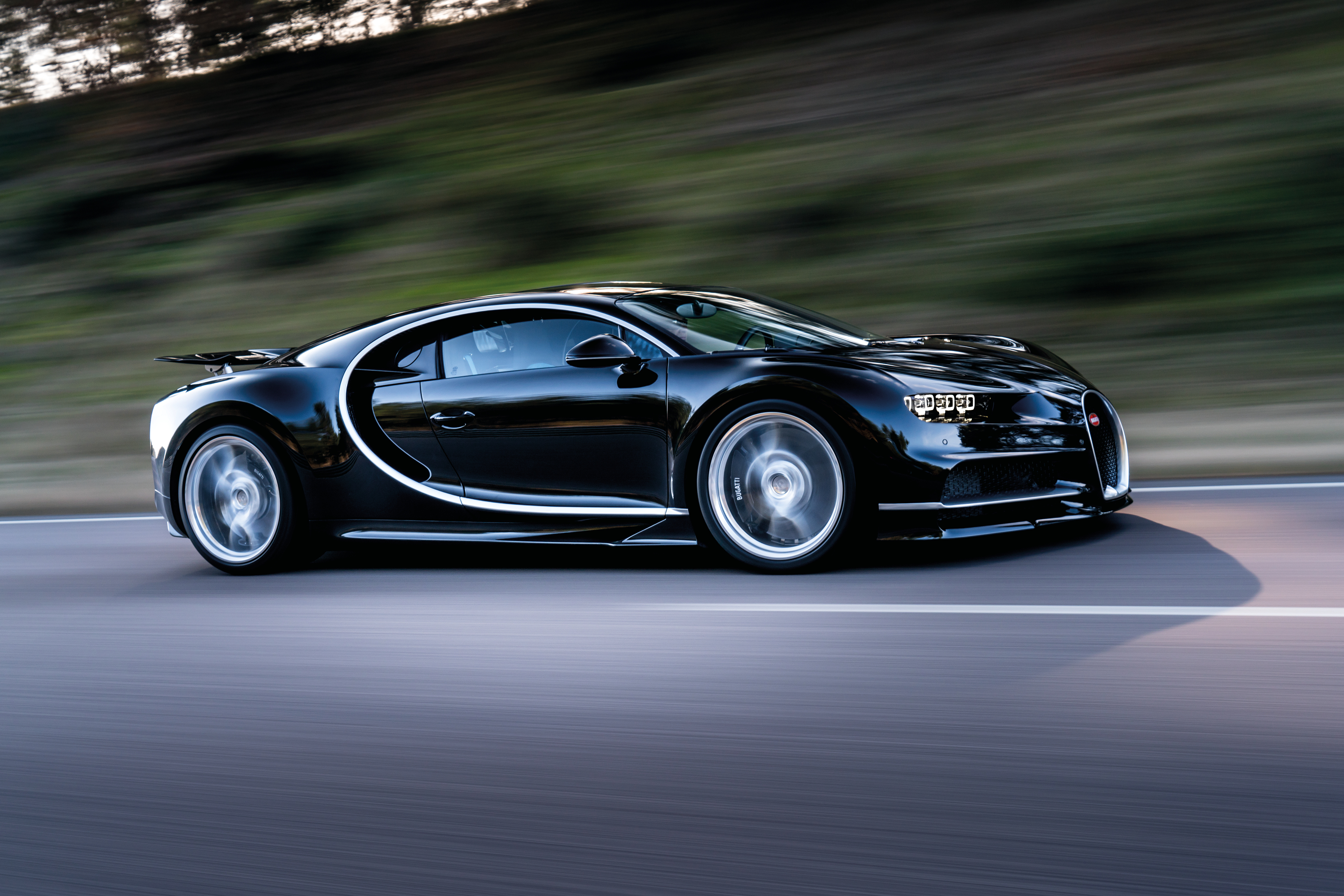 110158 download wallpaper Bugatti, Cars, Side View, Speed, Chiron screensavers and pictures for free
