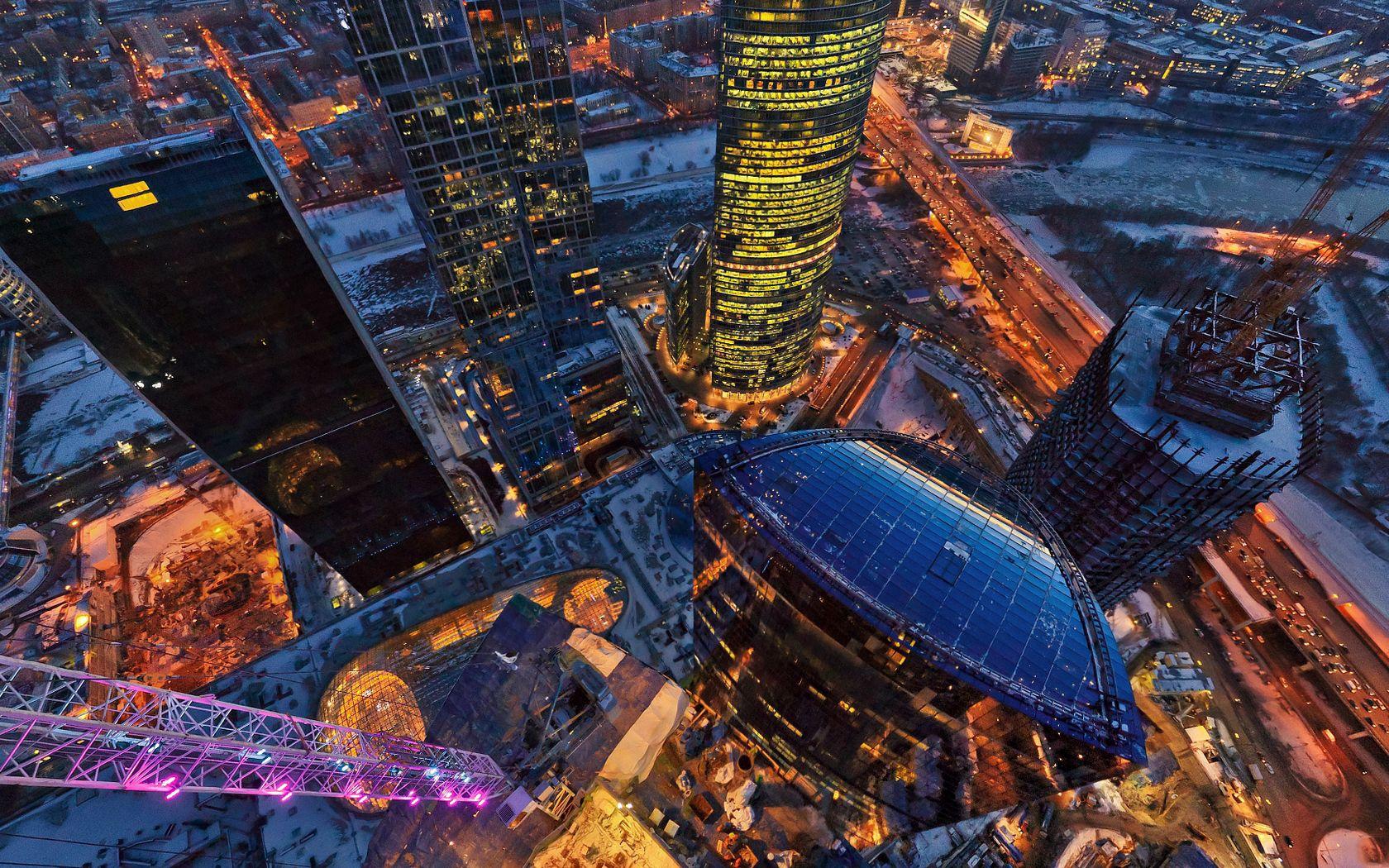 96450 скачать обои Москва, Башня, Вид Сверху, Здания, Столица, Россия, Города - заставки и картинки бесплатно