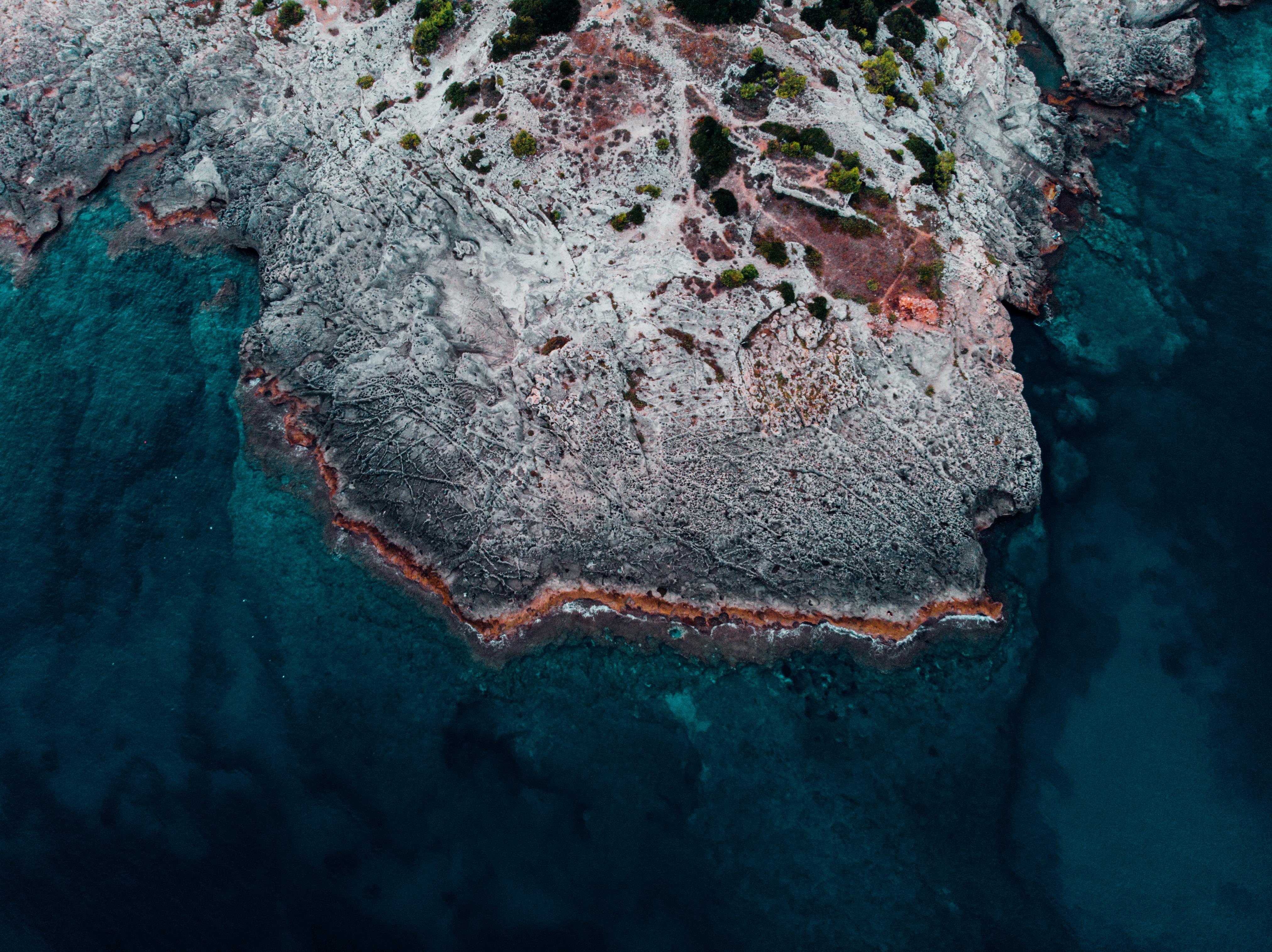 62166 免費下載壁紙 性质, 海洋, 支撑, 海岸, 从上面看, 顶视图, 水, 石 屏保和圖片