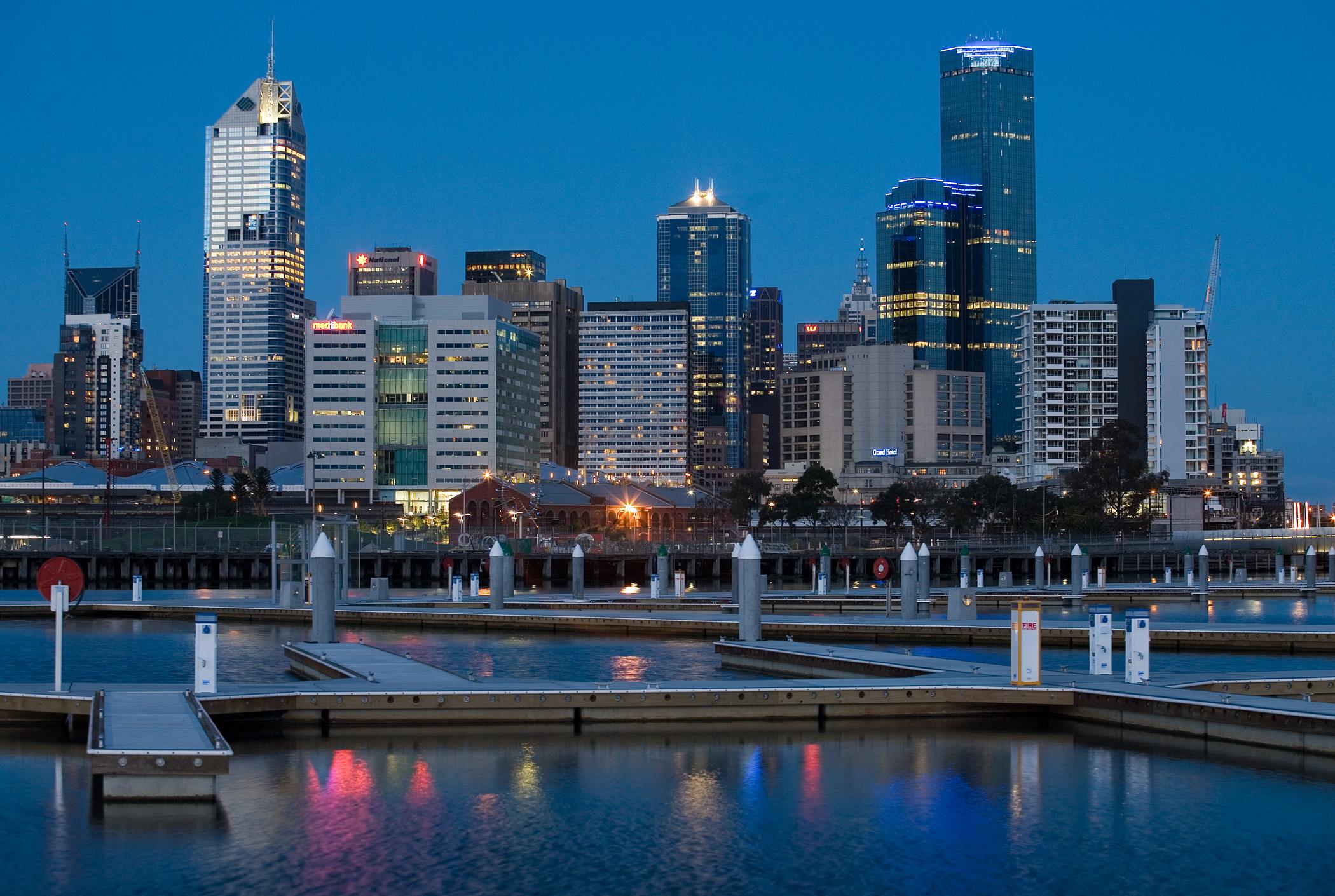 88726 скачать обои Мельбурн, Австралия, Штат Виктория, Панорама, Города, Пейзаж - заставки и картинки бесплатно