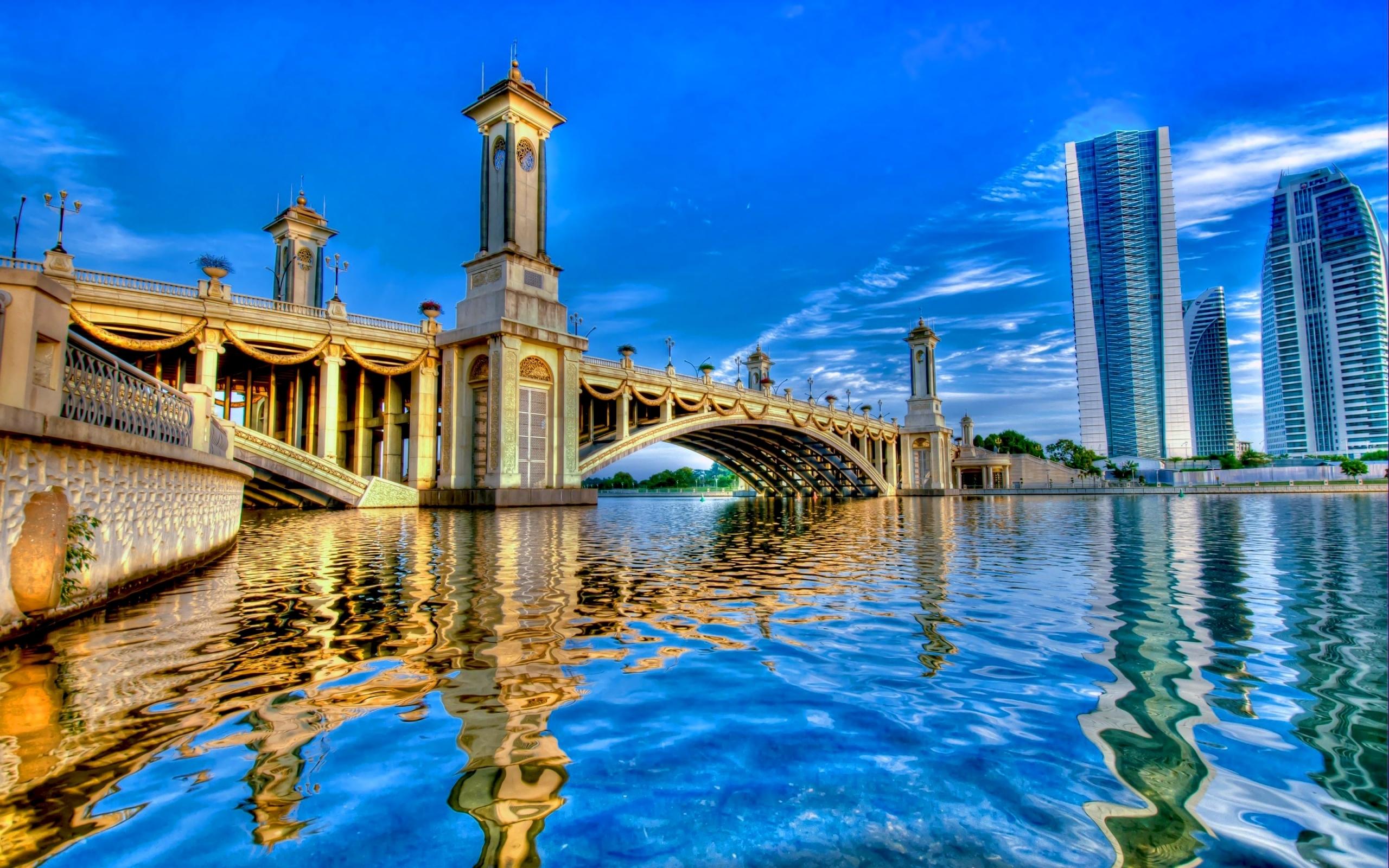 43026 скачать обои Мосты, Пейзаж, Река - заставки и картинки бесплатно
