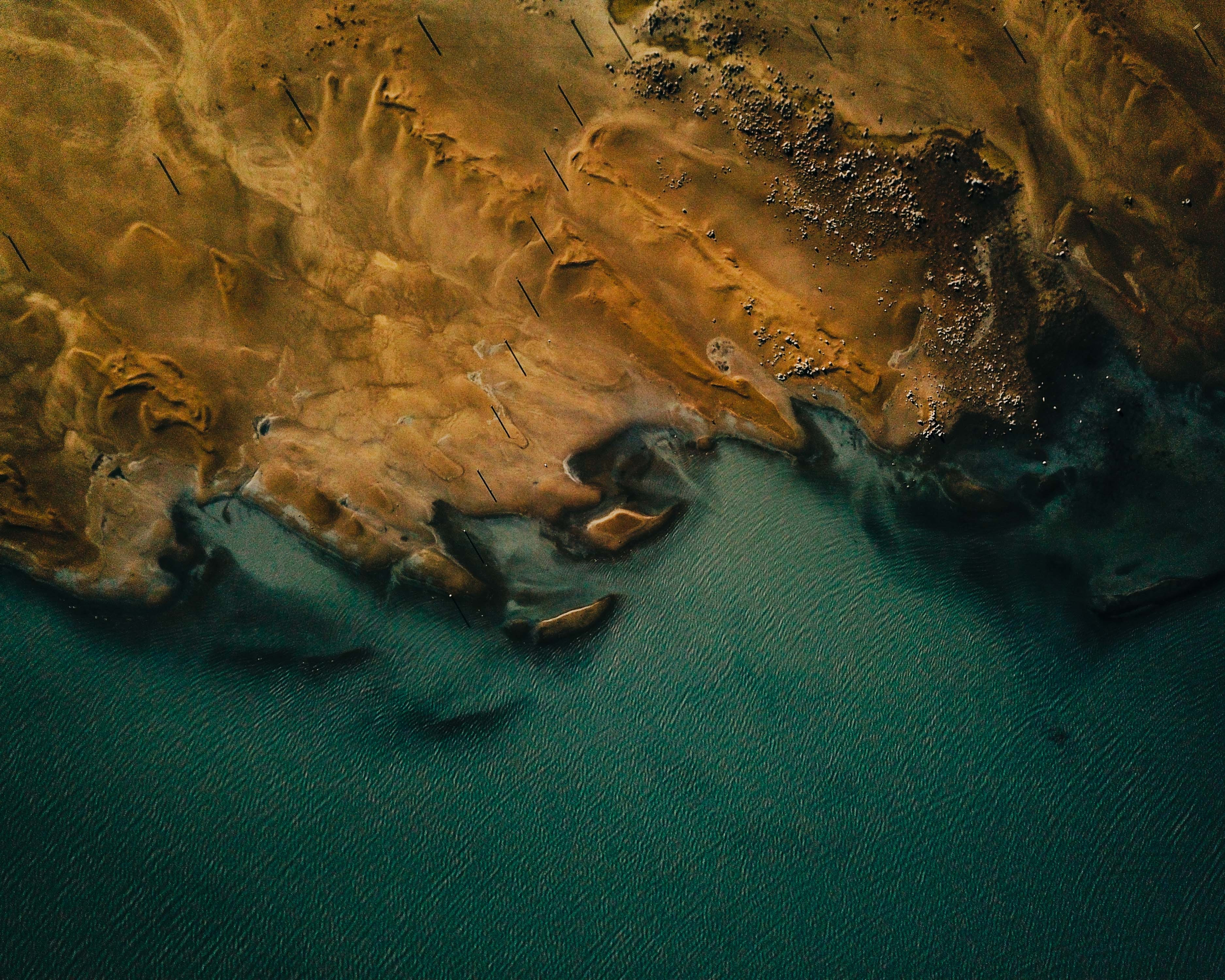 83678 download wallpaper View From Above, Nature, Water, Sea, Coast, Land, Earth screensavers and pictures for free