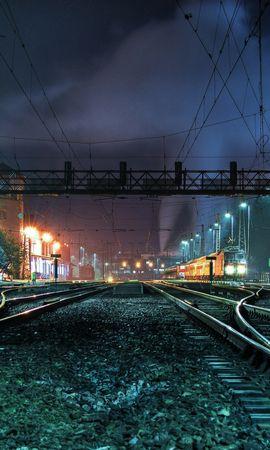 41375 télécharger le fond d'écran Paysage, Nuit, Trains - économiseurs d'écran et images gratuitement