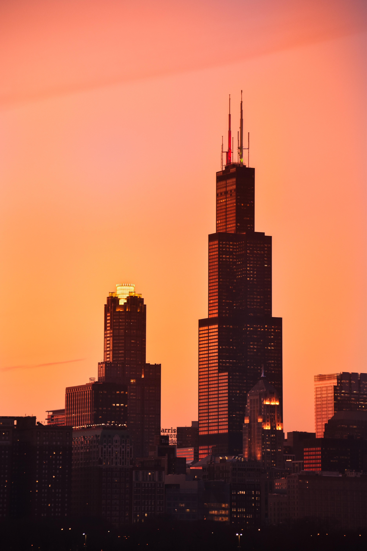 75748壁紙のダウンロード建物, タワーズ, 塔, 高層ビル, 高 層 ビル, 夕暮れ, 薄明, 市, 都市-スクリーンセーバーと写真を無料で