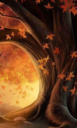 20632 скачать обои Растения, Деревья, Осень, Листья, Рисунки - заставки и картинки бесплатно