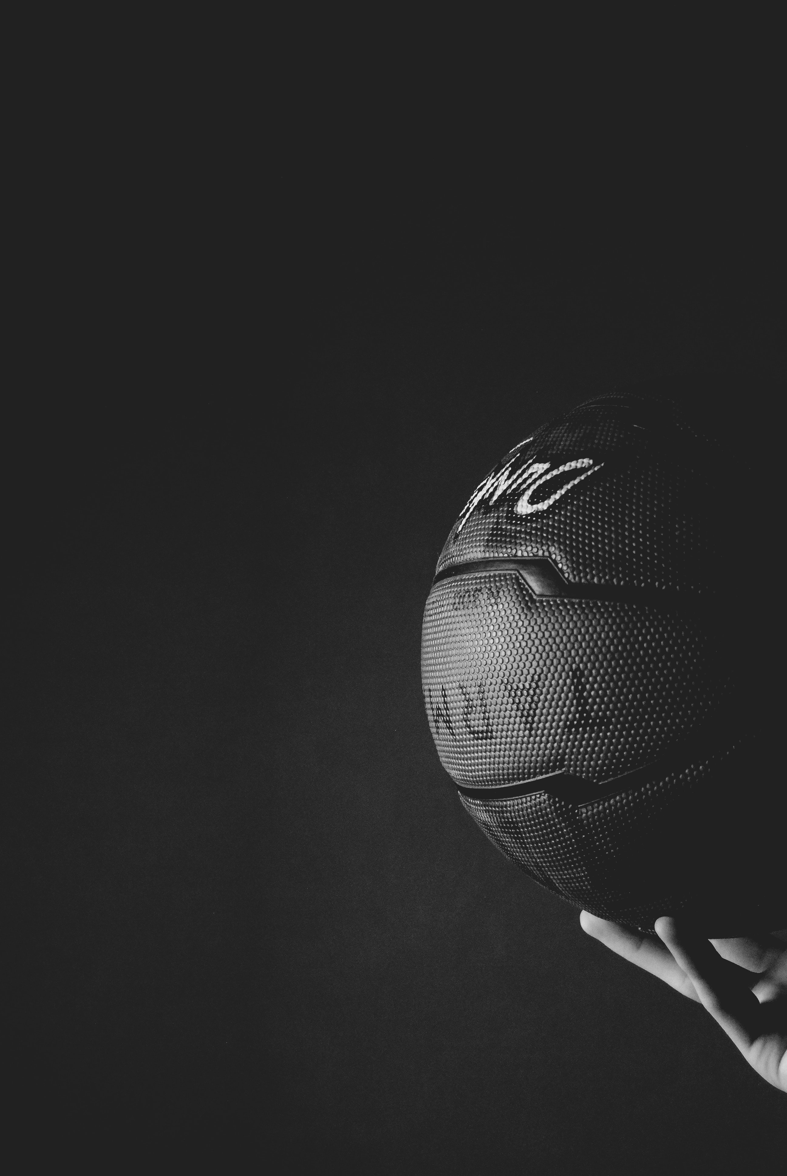 75885 Screensavers and Wallpapers Basketball for phone. Download Sports, Basketball, Ball, Hand, Bw, Chb pictures for free