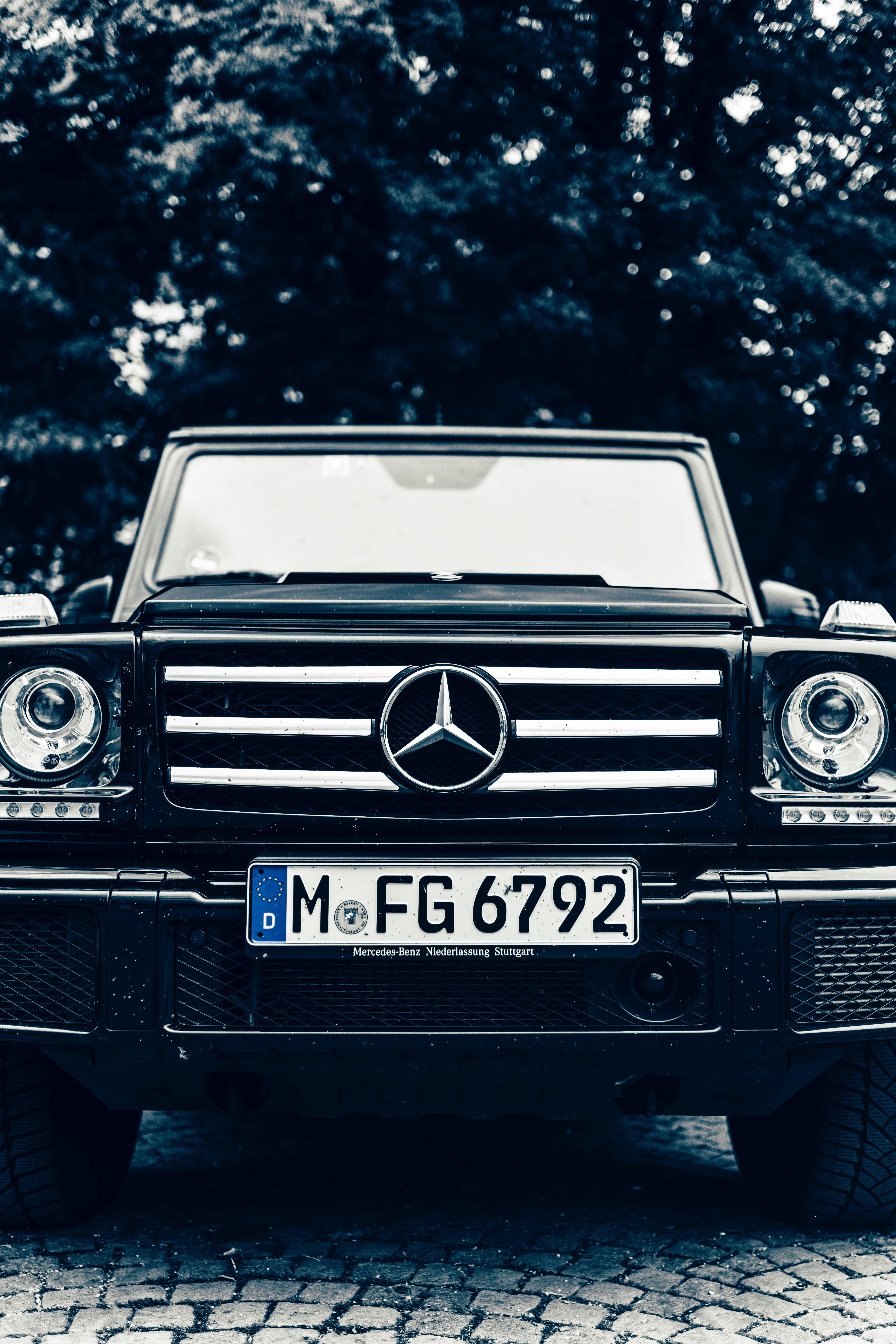 86242 Заставки и Обои Фары на телефон. Скачать Mercedes, Тачки (Cars), Внедорожник, Вид Спереди, Машина, Фары картинки бесплатно