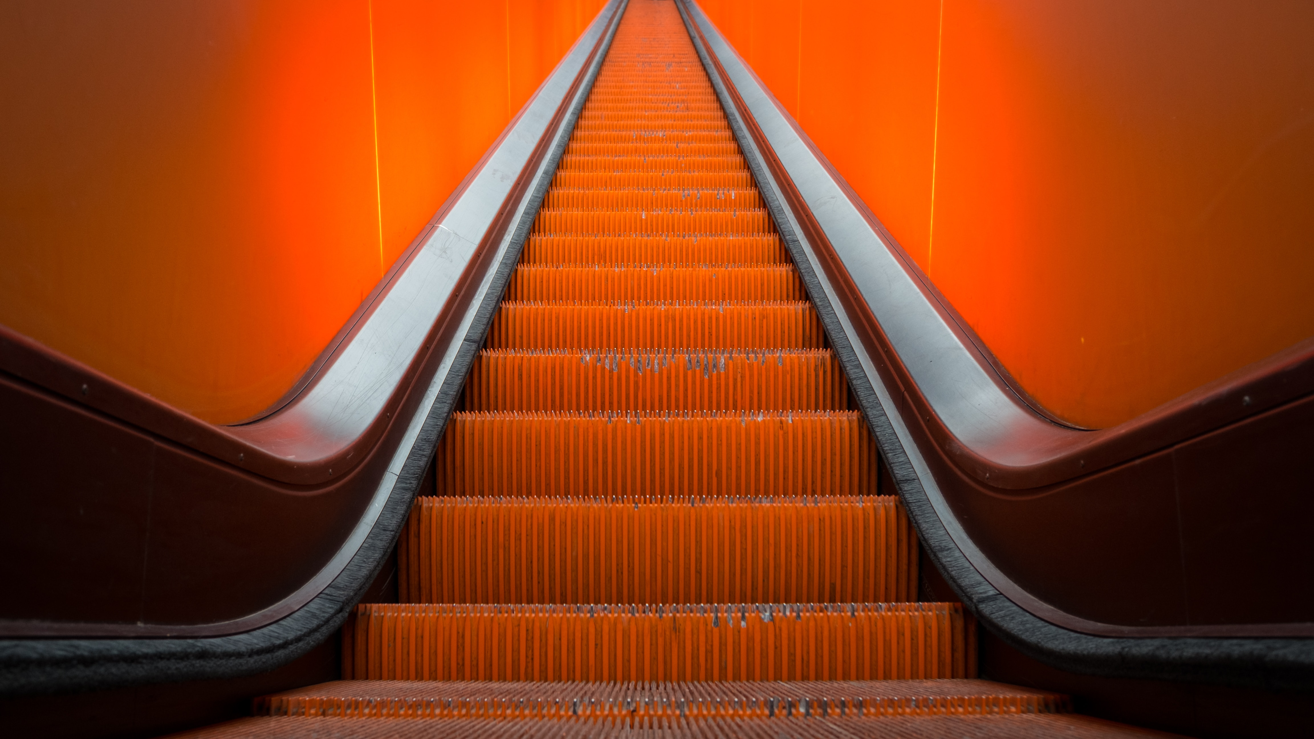 55517 free download Orange wallpapers for phone, Miscellanea, Miscellaneous, Escalator, Stairs, Ladder Orange images and screensavers for mobile