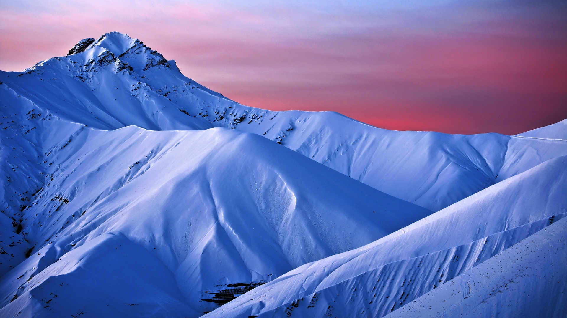 49357 скачать Синие обои на телефон бесплатно, Пейзаж, Природа, Горы, Снег Синие картинки и заставки на мобильный