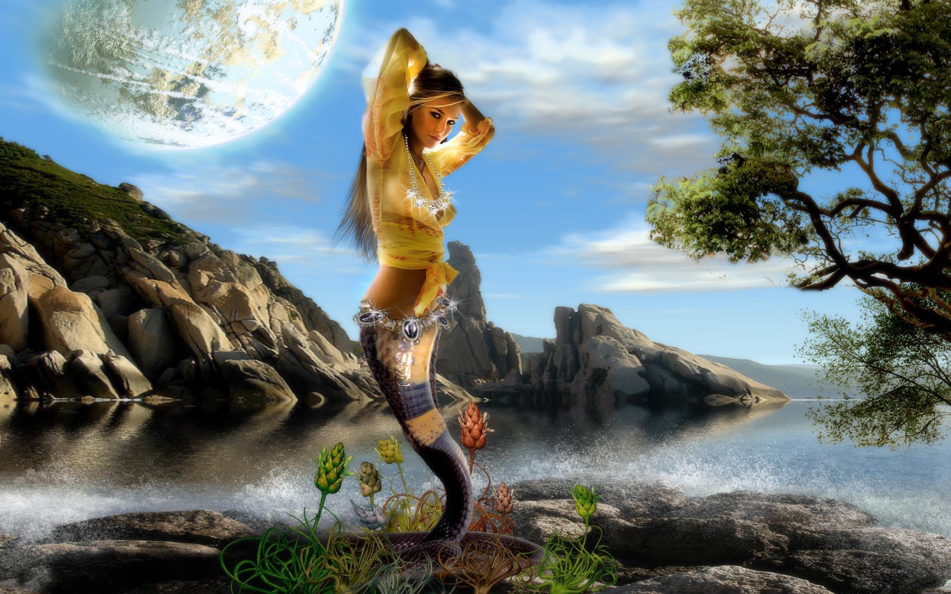 29364 Hintergrundbild herunterladen Mädchen, Fantasie, Fotokunst - Bildschirmschoner und Bilder kostenlos