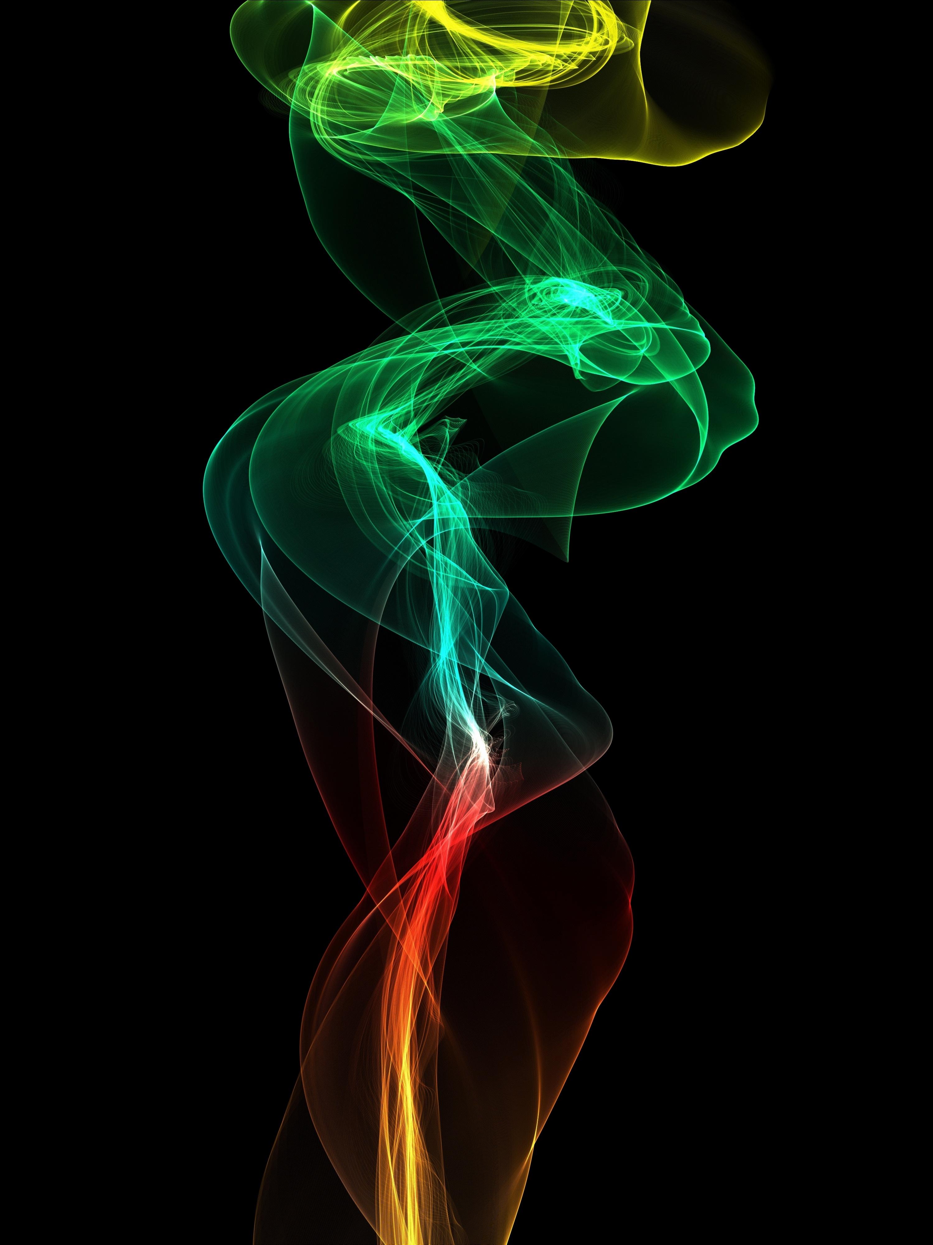 136694 скачать обои Абстракция, Дым, Извилистый, Цветной, Цифровой - заставки и картинки бесплатно