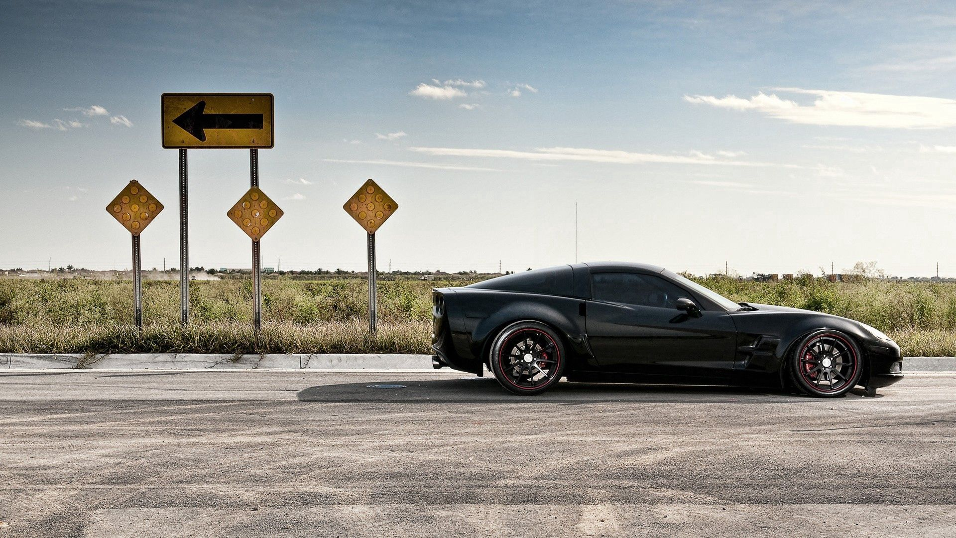 145900 скачать обои Машины, Тачки (Cars), Дорога, Движение, Черный, Corvette - заставки и картинки бесплатно