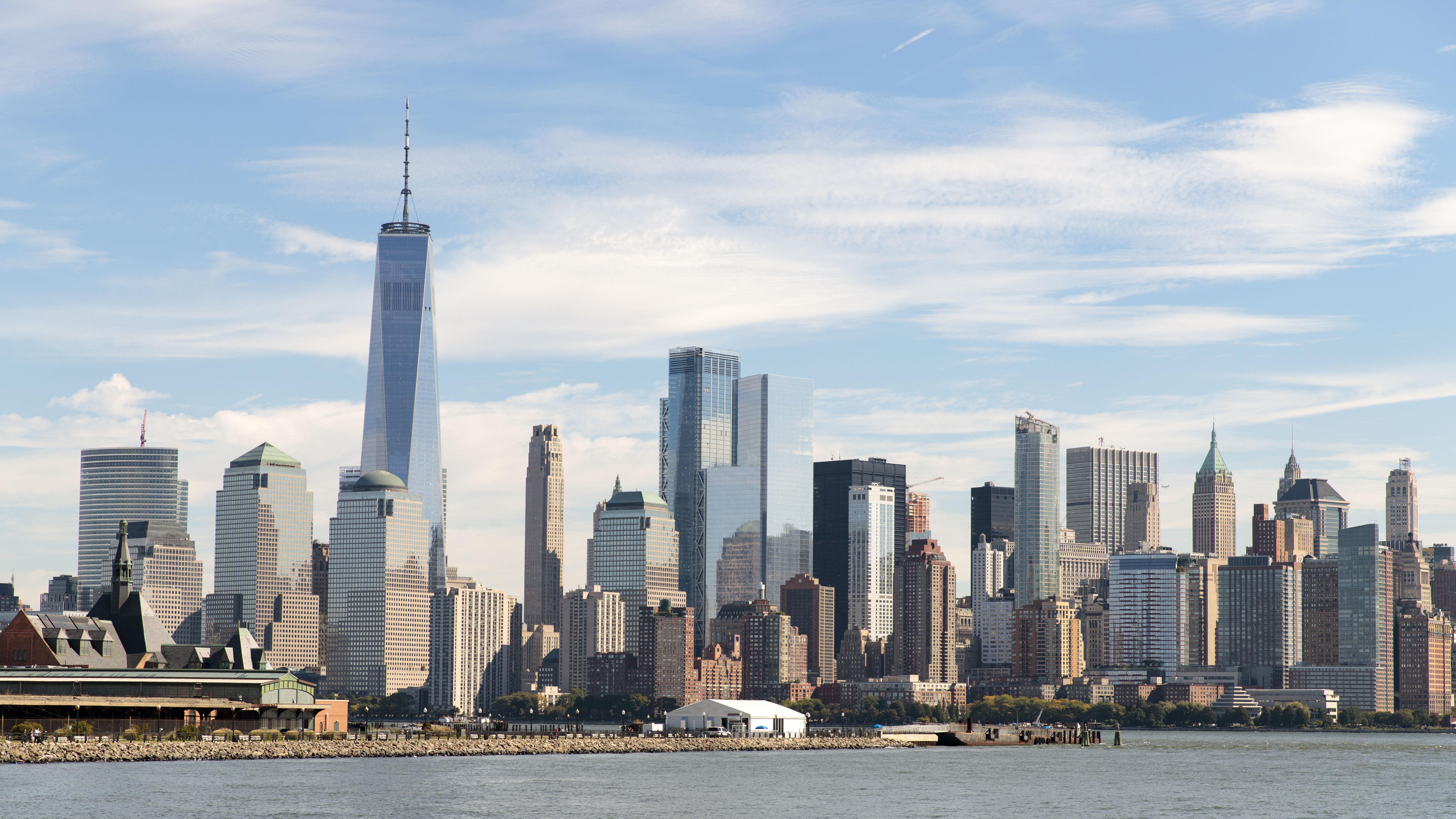 74014壁紙のダウンロード市, 都市, 高層ビル, 高 層 ビル, 建物, 海, アーキテクチャ-スクリーンセーバーと写真を無料で