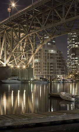 27186 скачать обои Пейзаж, Города, Мосты, Ночь - заставки и картинки бесплатно