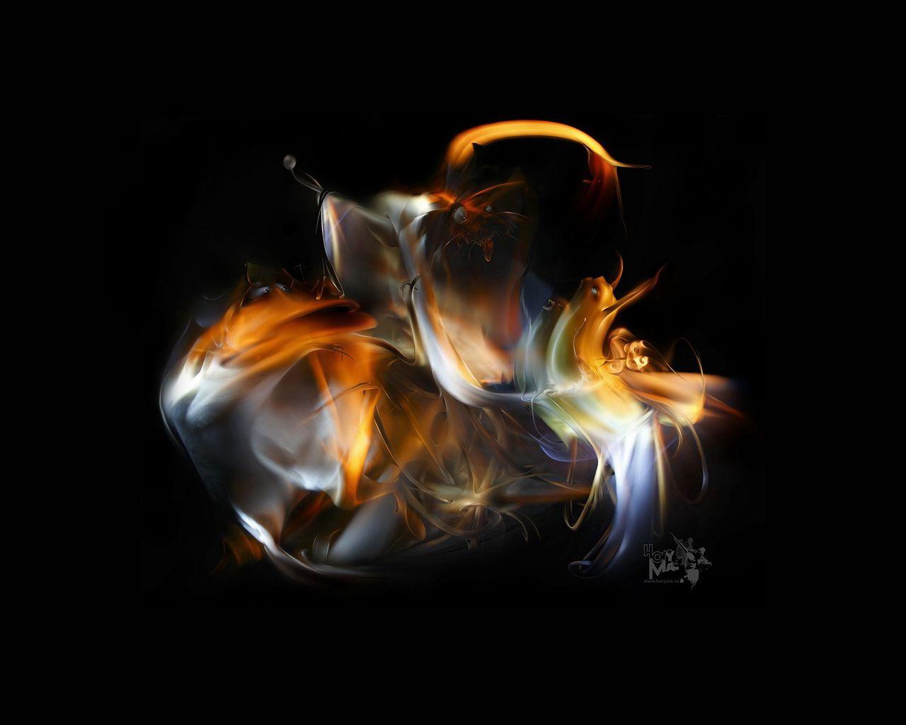 75361 скачать обои Абстракция, Приведения, Пелена, Свет, Фон, Дым - заставки и картинки бесплатно