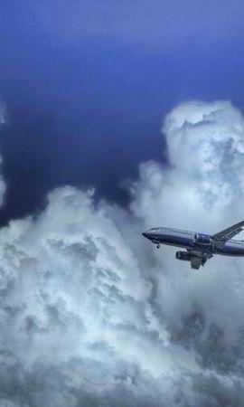 27456 скачать обои Транспорт, Небо, Облака, Самолеты - заставки и картинки бесплатно