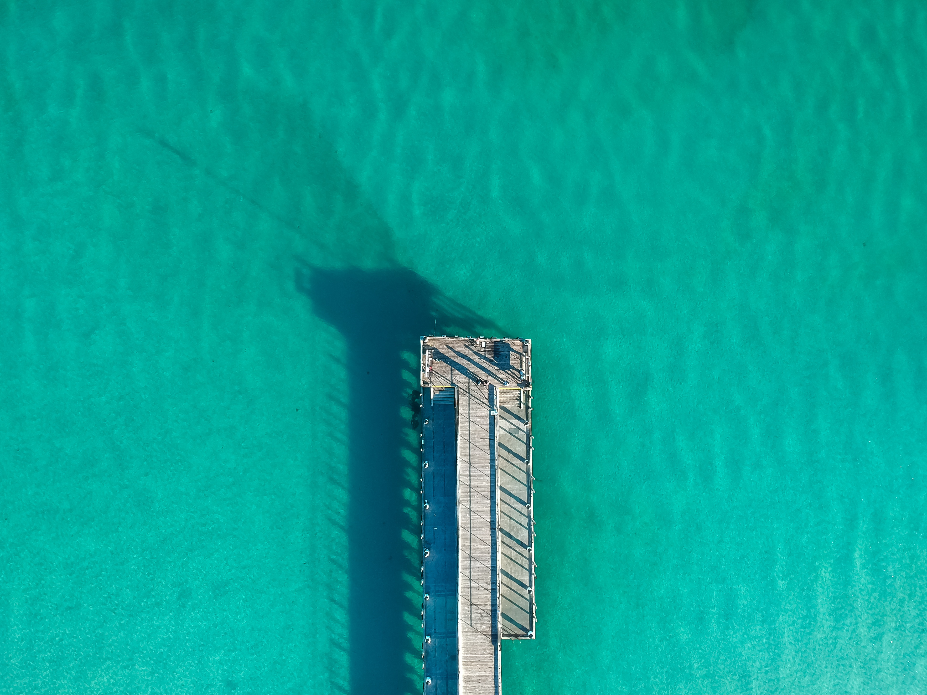 142377 free download Turquoise wallpapers for phone, Minimalism, Berth, Wharf, Ocean, Shadow, View From Above, Surface Turquoise images and screensavers for mobile