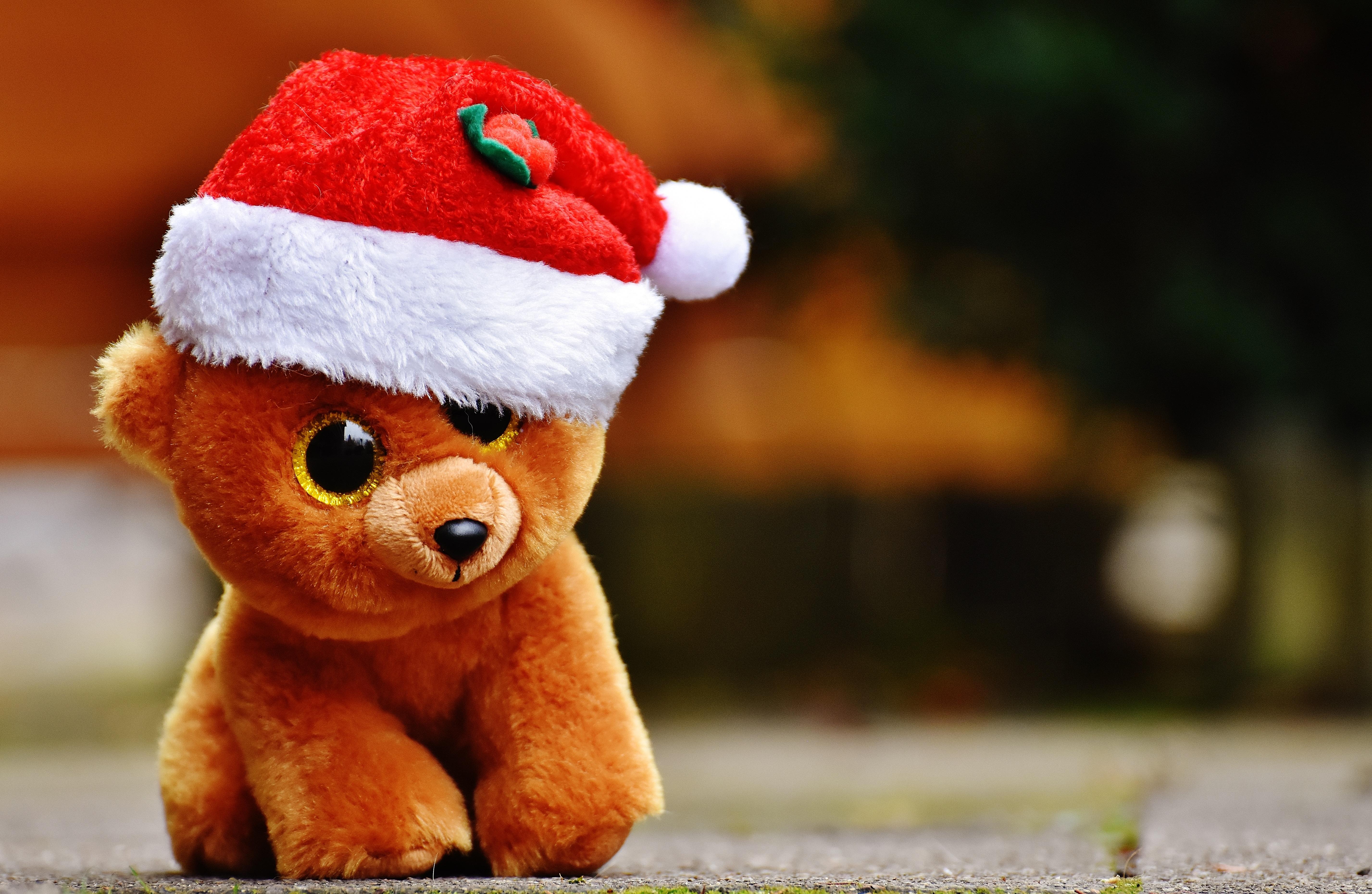 86591 Hintergrundbild herunterladen Feiertage, Spielzeug, Weihnachten, Teddybär - Bildschirmschoner und Bilder kostenlos