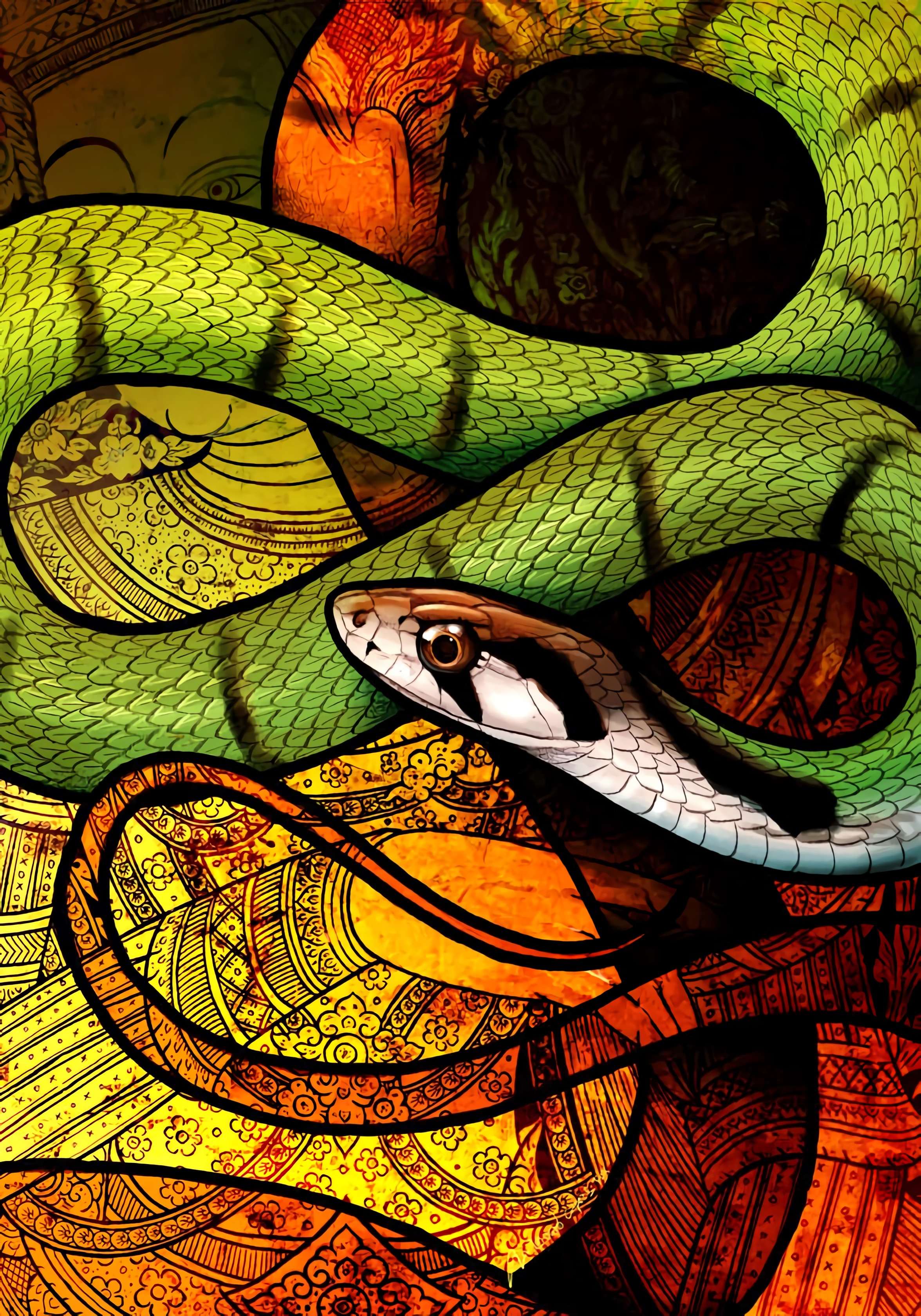 73883 Screensavers and Wallpapers Snake for phone. Download Art, Pattern, Reptile, Snake pictures for free