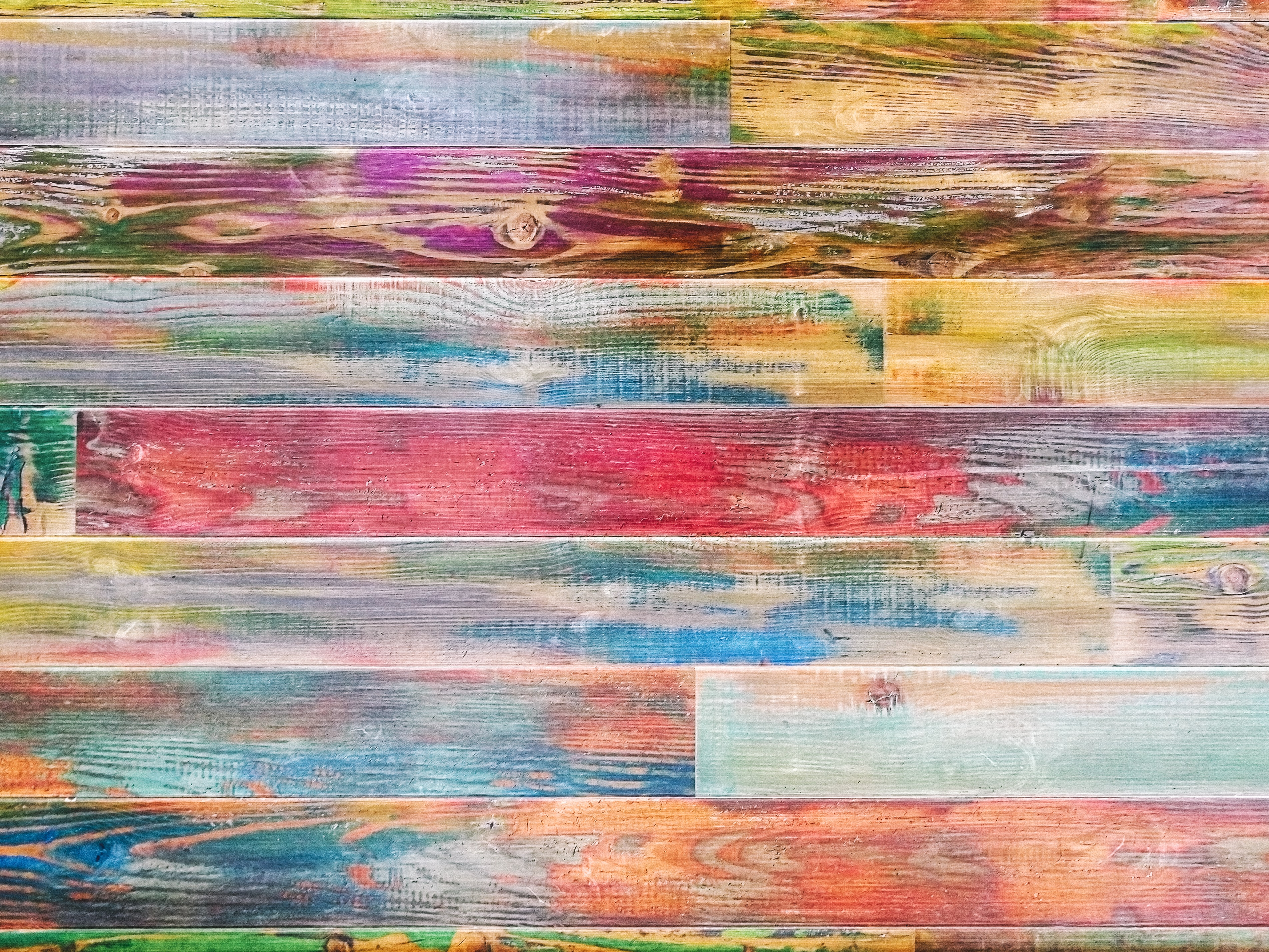 106815 download wallpaper Textures, Texture, Planks, Board, Wood, Wooden, Multicolored, Motley, Paint screensavers and pictures for free