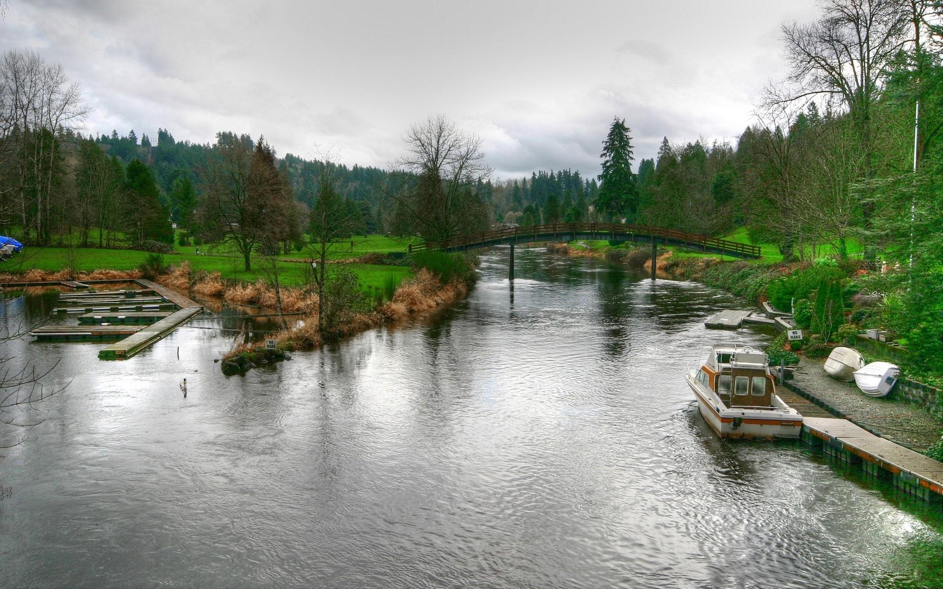 7808 скачать обои Пейзаж, Река, Мосты - заставки и картинки бесплатно