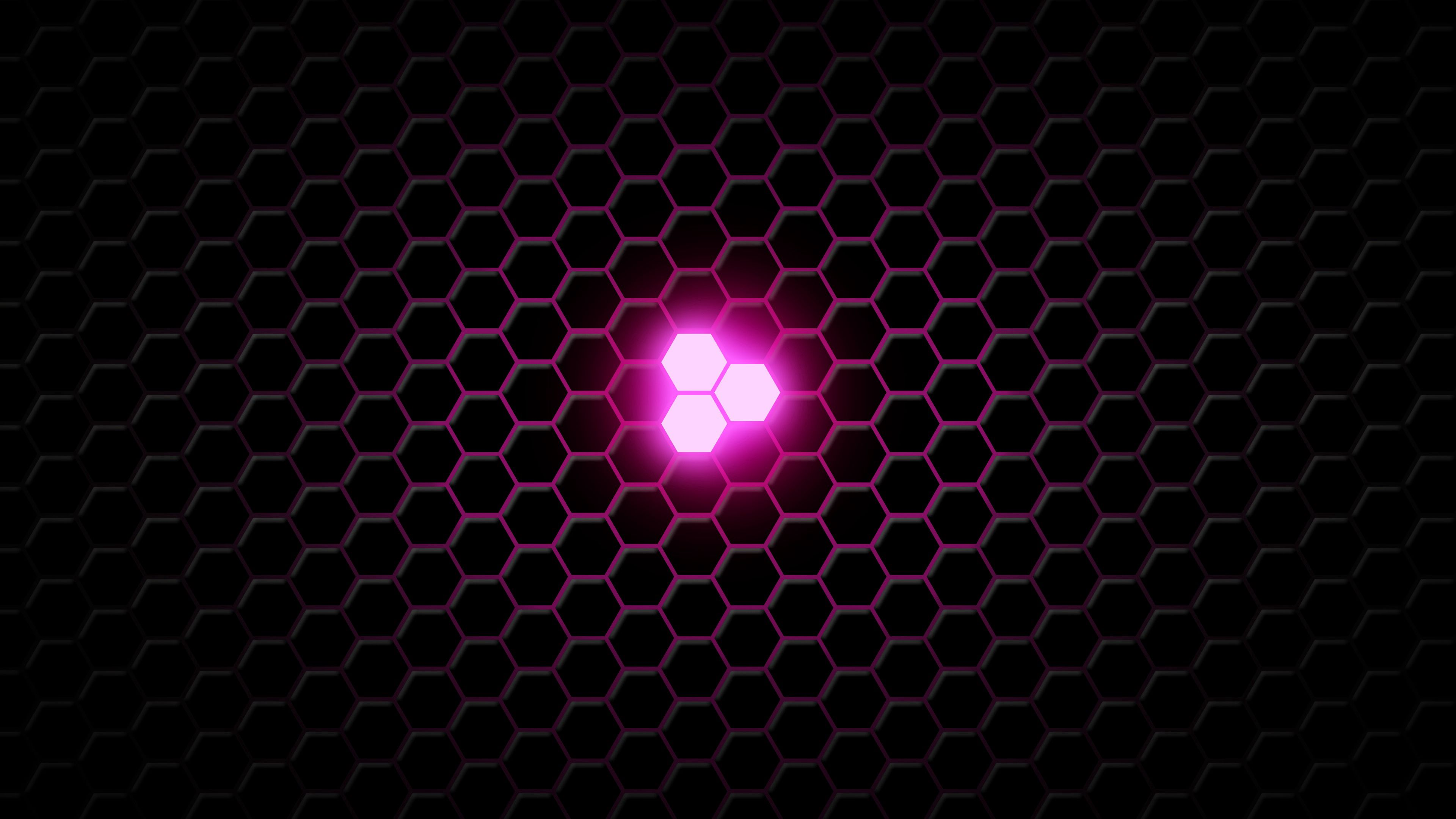 95444 download wallpaper Lilac, Texture, Textures, Neon, Glow, Hexagons, Hexagonals screensavers and pictures for free