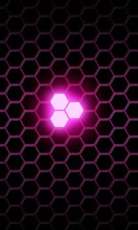 95444 télécharger le fond d'écran Textures, Texture, Hexagones, Hexagonaux, Néon, Briller, Lueur, Lilas - économiseurs d'écran et images gratuitement