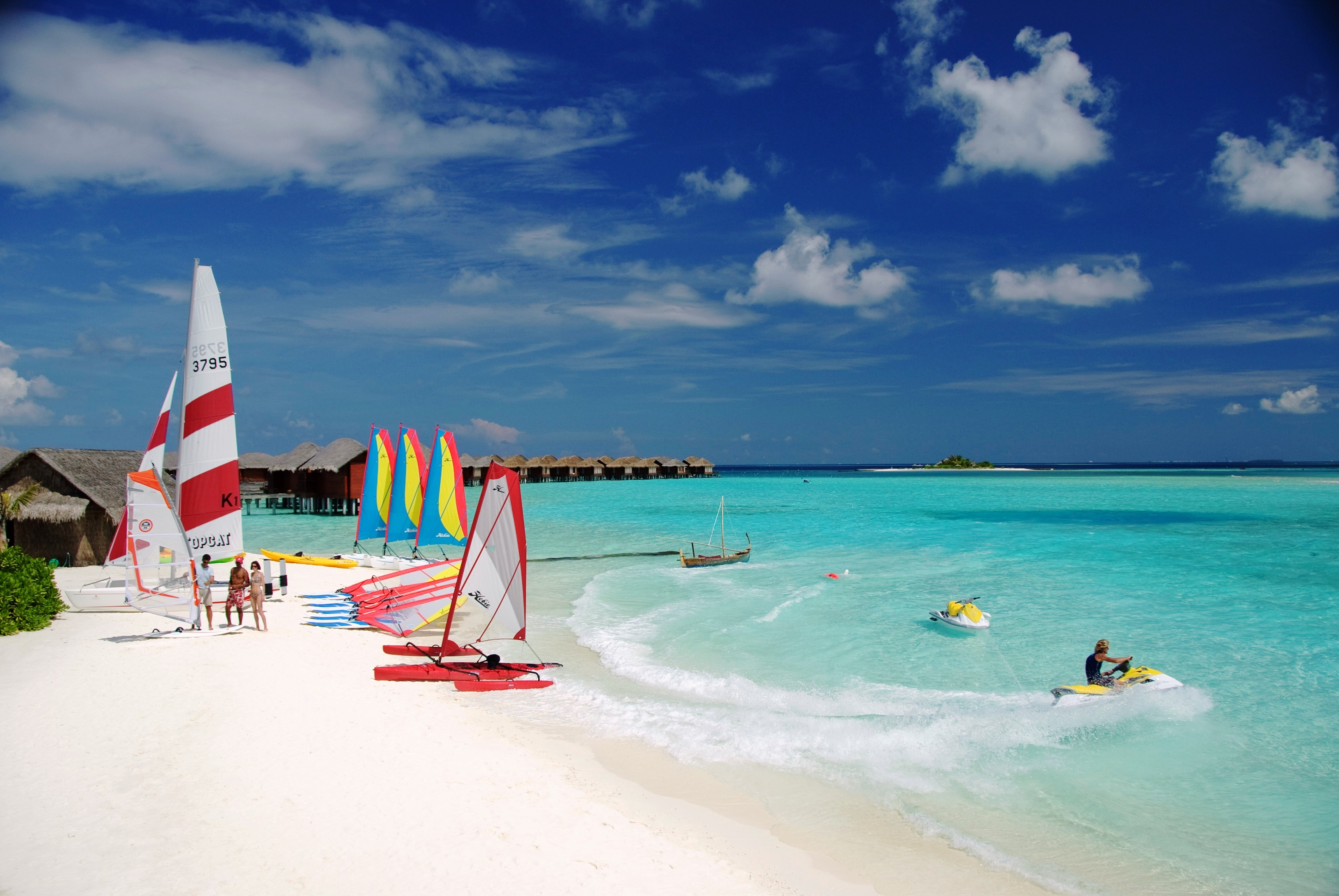 119534 free wallpaper 720x1520 for phone, download images Nature, Beach, Yachts, Tropics, Maldives 720x1520 for mobile