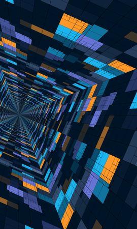 152707 télécharger le fond d'écran Abstrait, Perspective, Géométrique, Schéma, Modèle, Couleur, Structure, Futuriste - économiseurs d'écran et images gratuitement