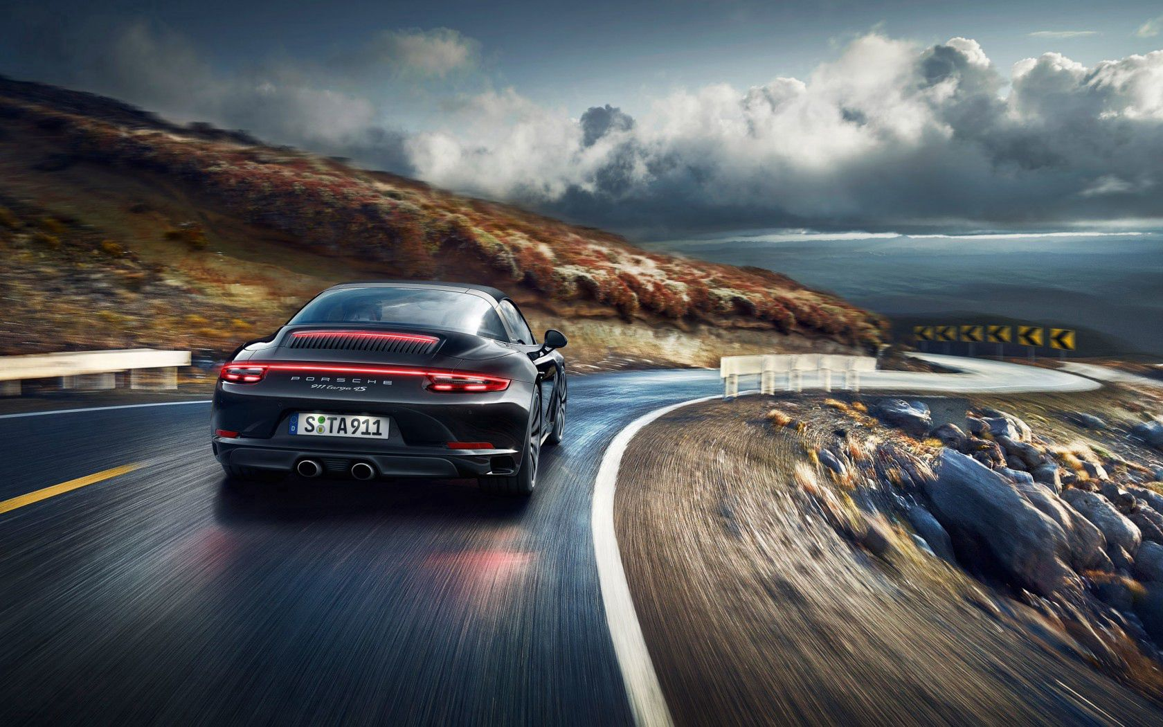 81121 Screensavers and Wallpapers Porsche for phone. Download Porsche, Cars, Turn, Back View, Rear View, 911, Targa pictures for free