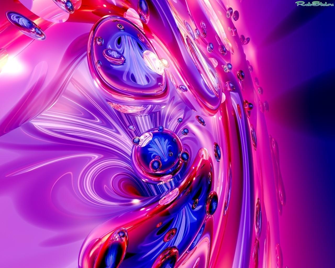7835 скачать Фиолетовые обои на телефон бесплатно, Абстракция, Пузыри Фиолетовые картинки и заставки на мобильный