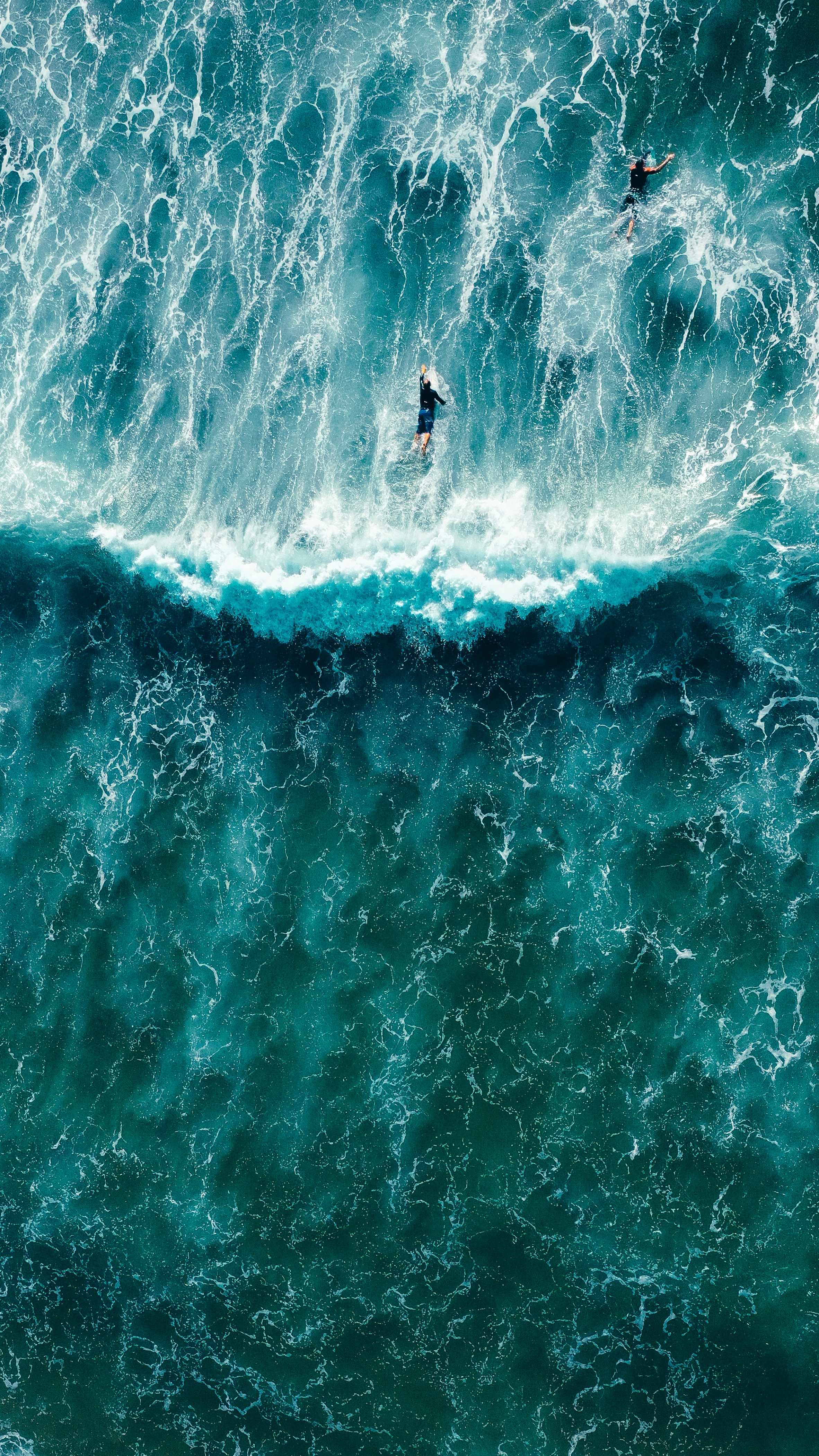 138453 download wallpaper Sports, Surfers, View From Above, Serfing, Ocean, Waves screensavers and pictures for free