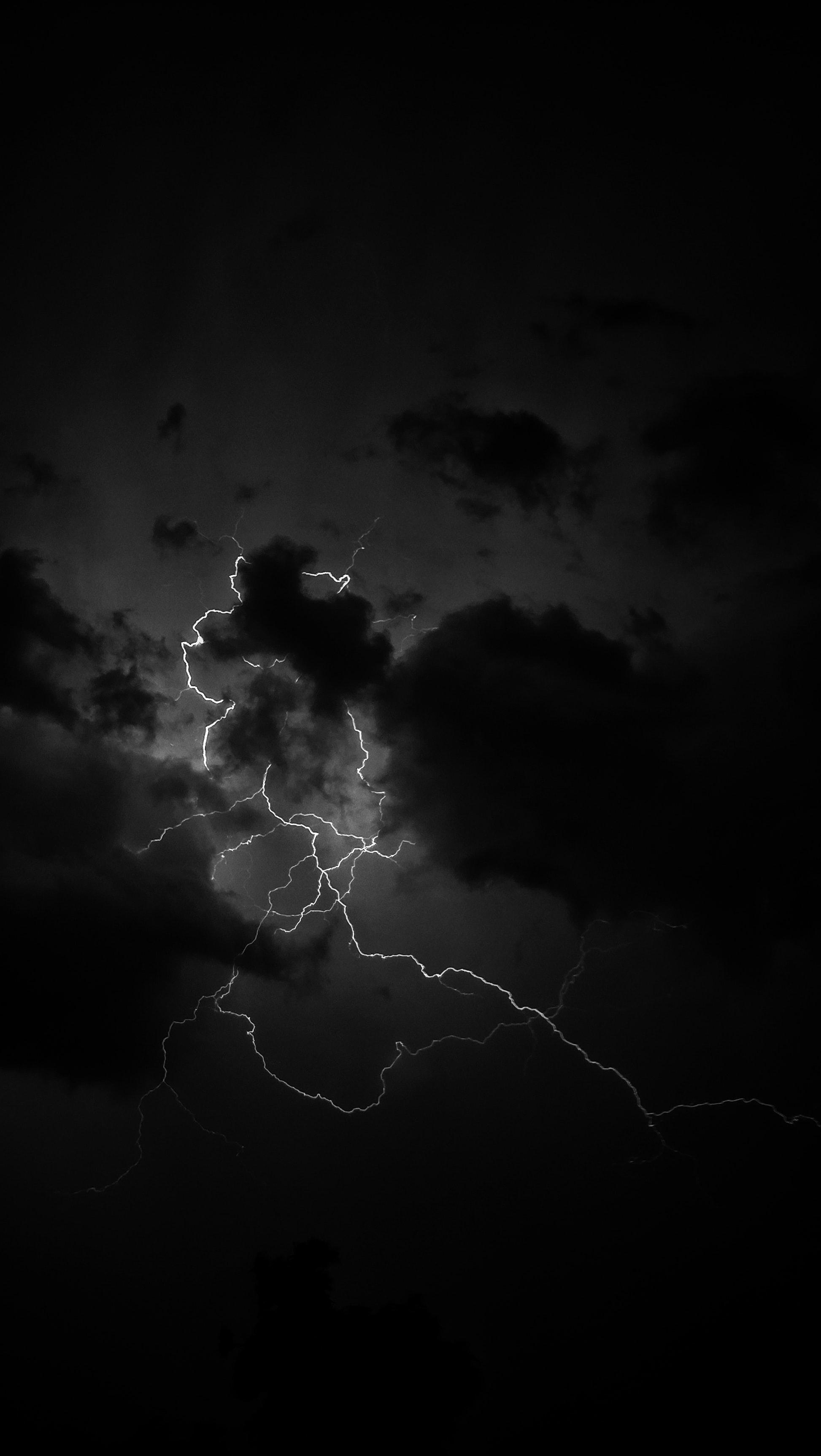 77634 Заставки и Обои Молния на телефон. Скачать Молния, Облака, Чб картинки бесплатно