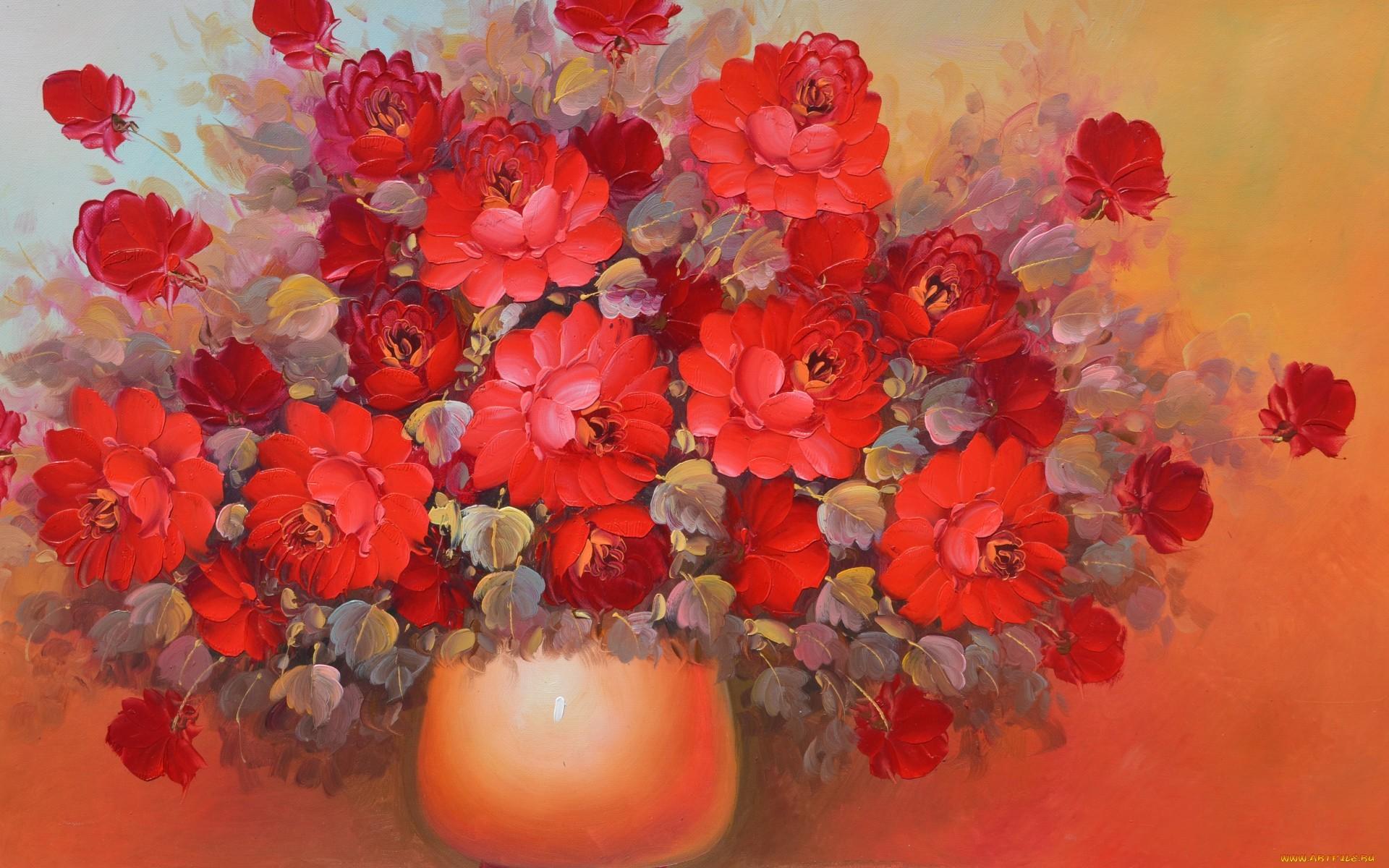 19321 télécharger le fond d'écran Plantes, Fleurs, Bouquets, Dessins, Still Life - économiseurs d'écran et images gratuitement