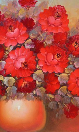 19321 скачать обои Растения, Цветы, Букеты, Рисунки, Натюрморт - заставки и картинки бесплатно