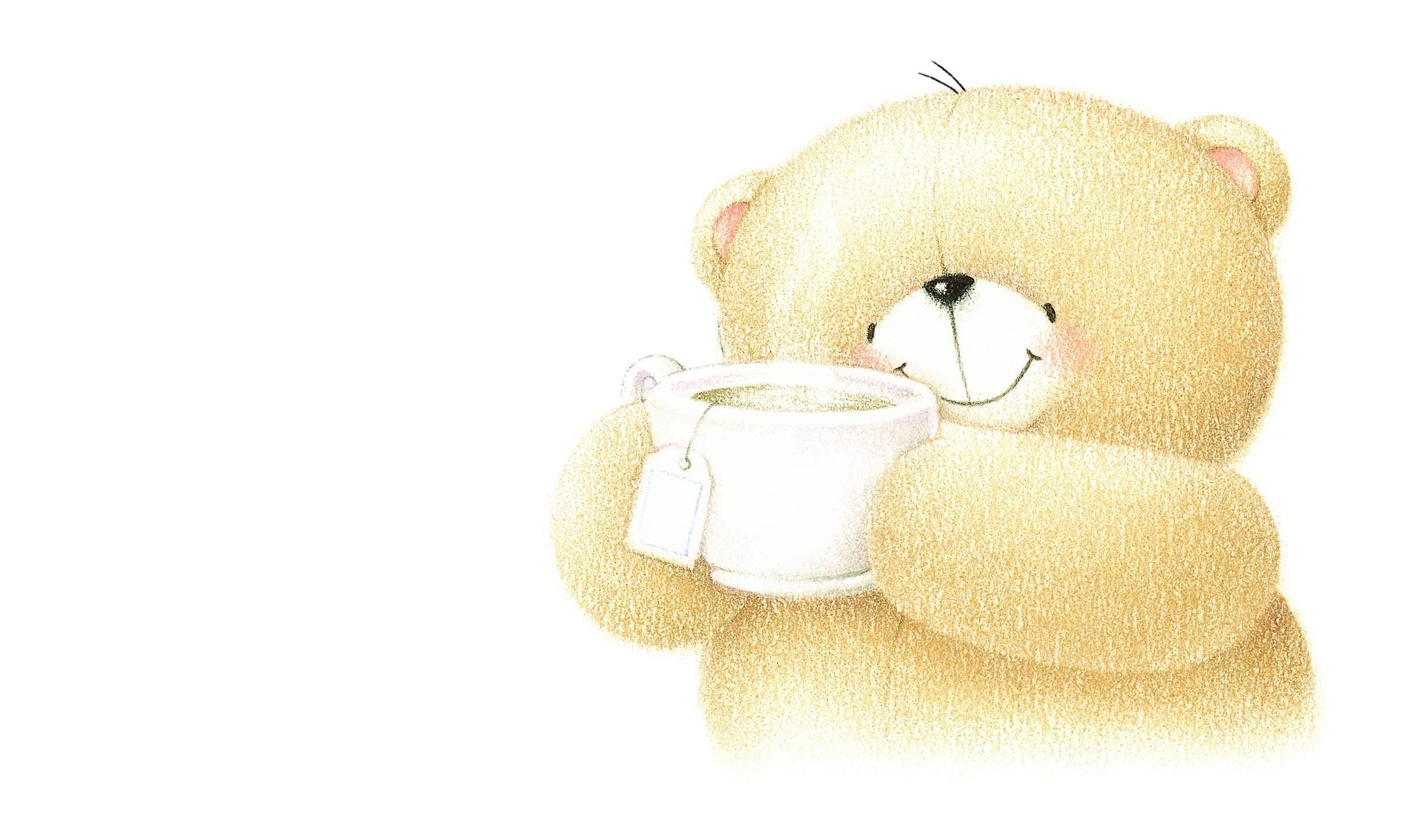 141587 Screensavers and Wallpapers Bear for phone. Download Art, Cup, Bear, Nice, Sweetheart pictures for free