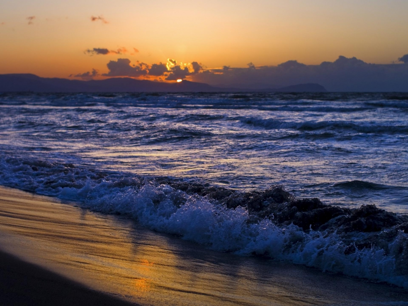 28903 скачать обои Пейзаж, Закат, Море, Волны - заставки и картинки бесплатно