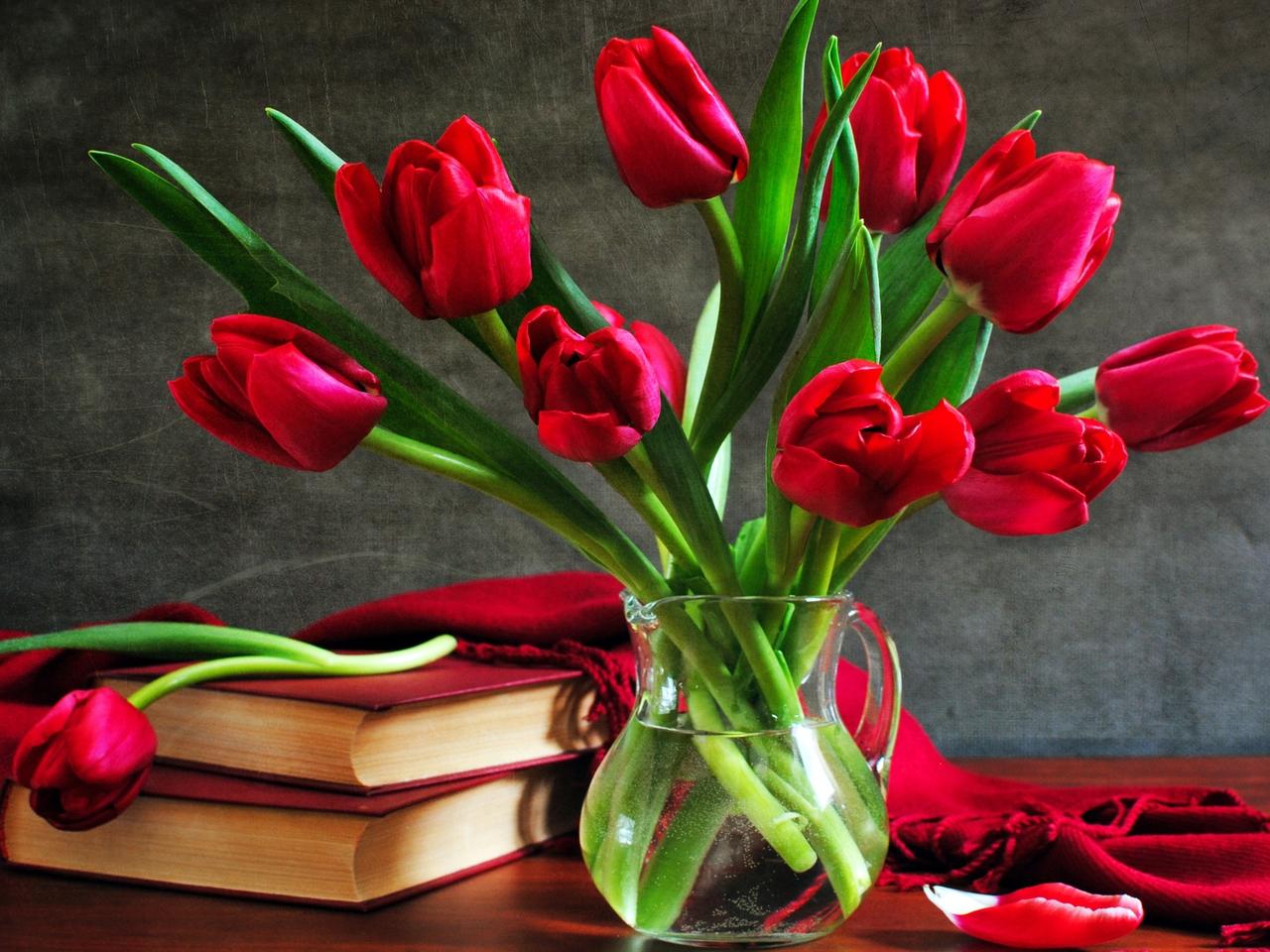 37913 скачать обои Растения, Цветы, Тюльпаны, Букеты - заставки и картинки бесплатно