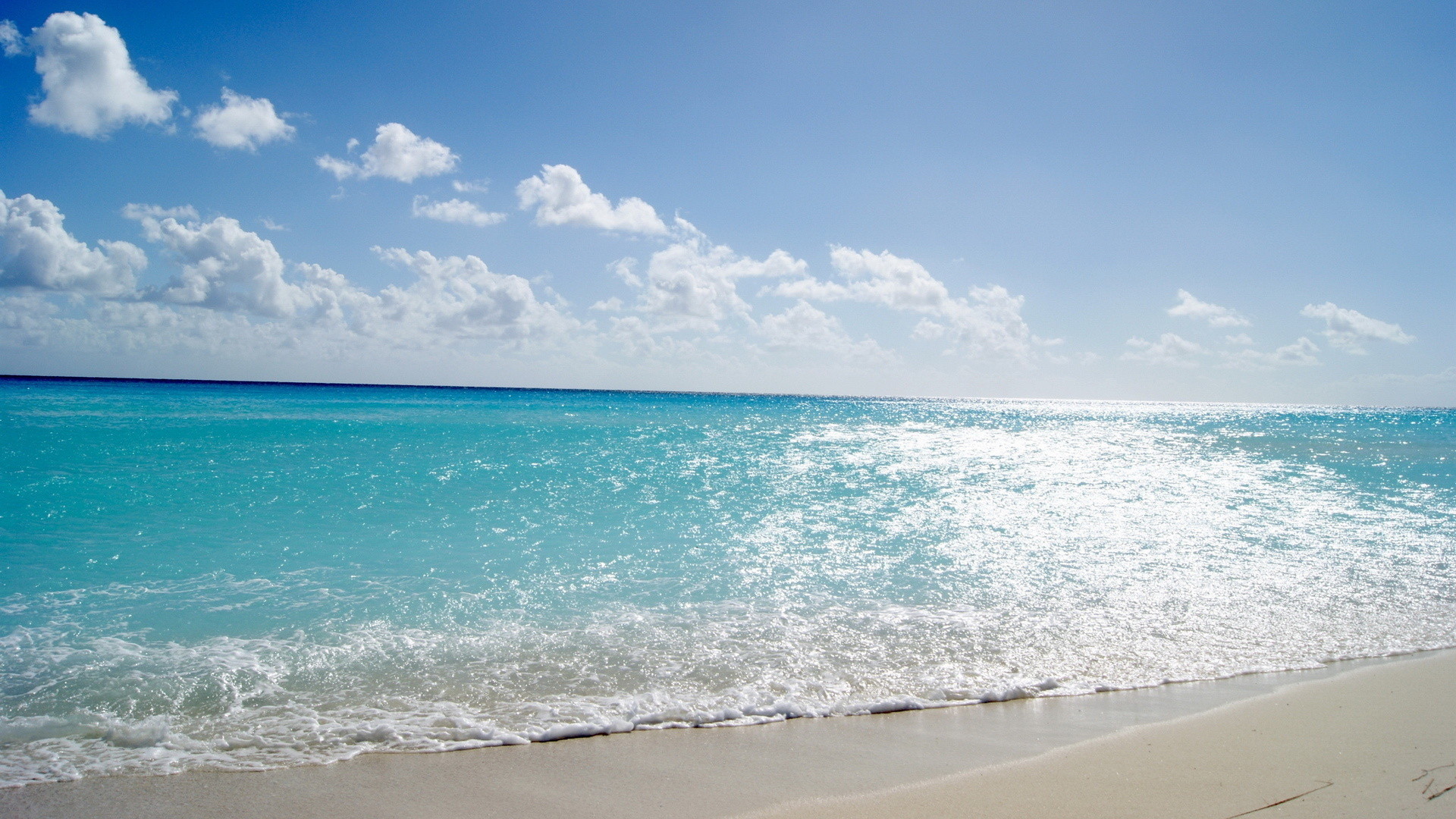 21498 download wallpaper Landscape, Sea, Clouds, Beach, Sand screensavers and pictures for free