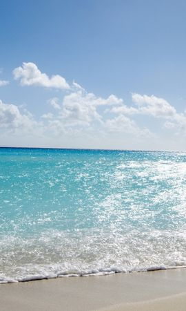 21498 скачать обои Пейзаж, Море, Облака, Пляж, Песок - заставки и картинки бесплатно