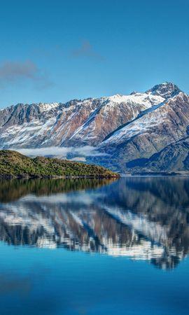 66753 скачать обои Природа, Новая Зеландия, Река, Море, Небо, Горы, Пейзаж - заставки и картинки бесплатно