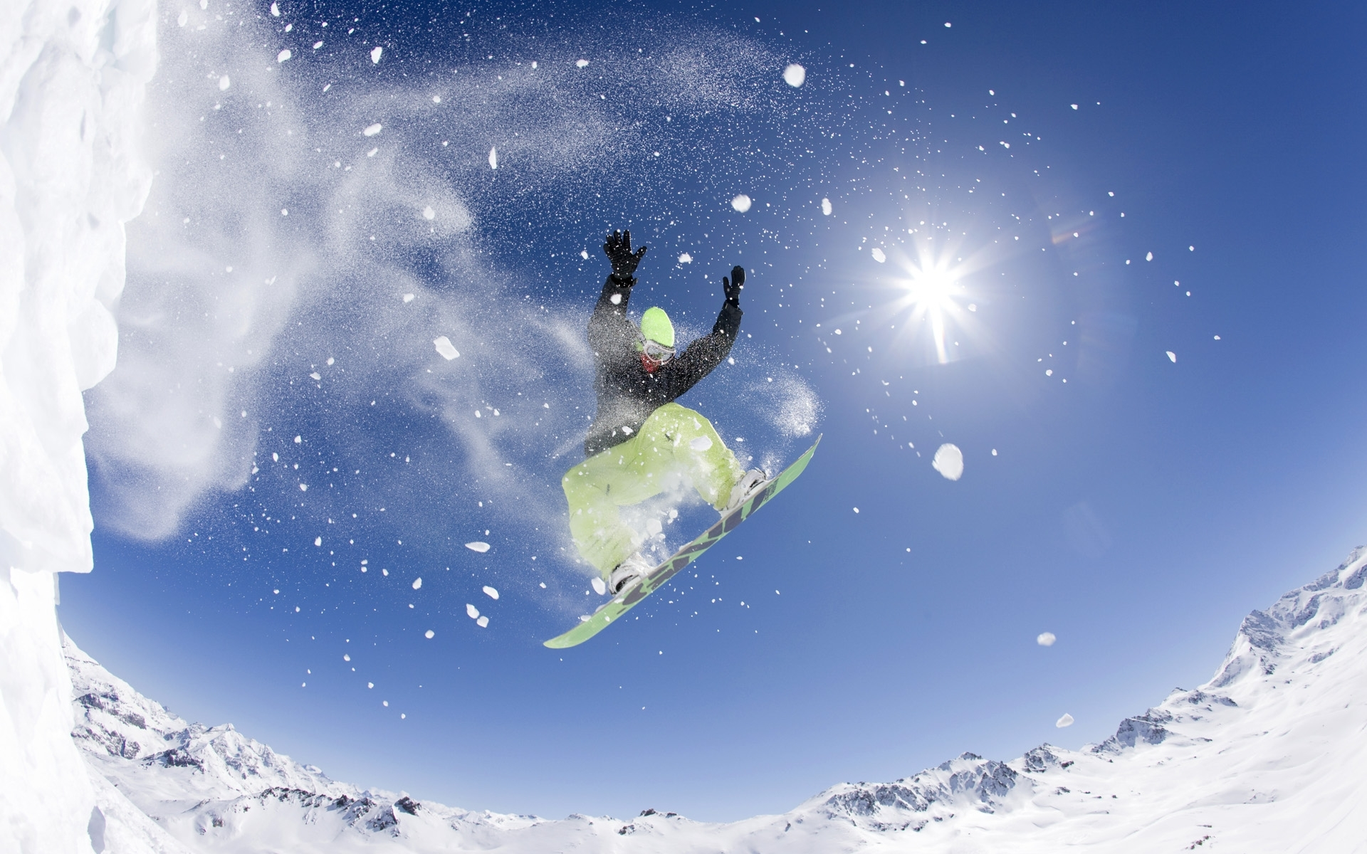 49185 download wallpaper Sports, Landscape, People, Snowboarding screensavers and pictures for free