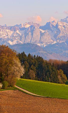118255 скачать обои Природа, Швейцария, Небо, Осень, Горы, Пейзаж - заставки и картинки бесплатно