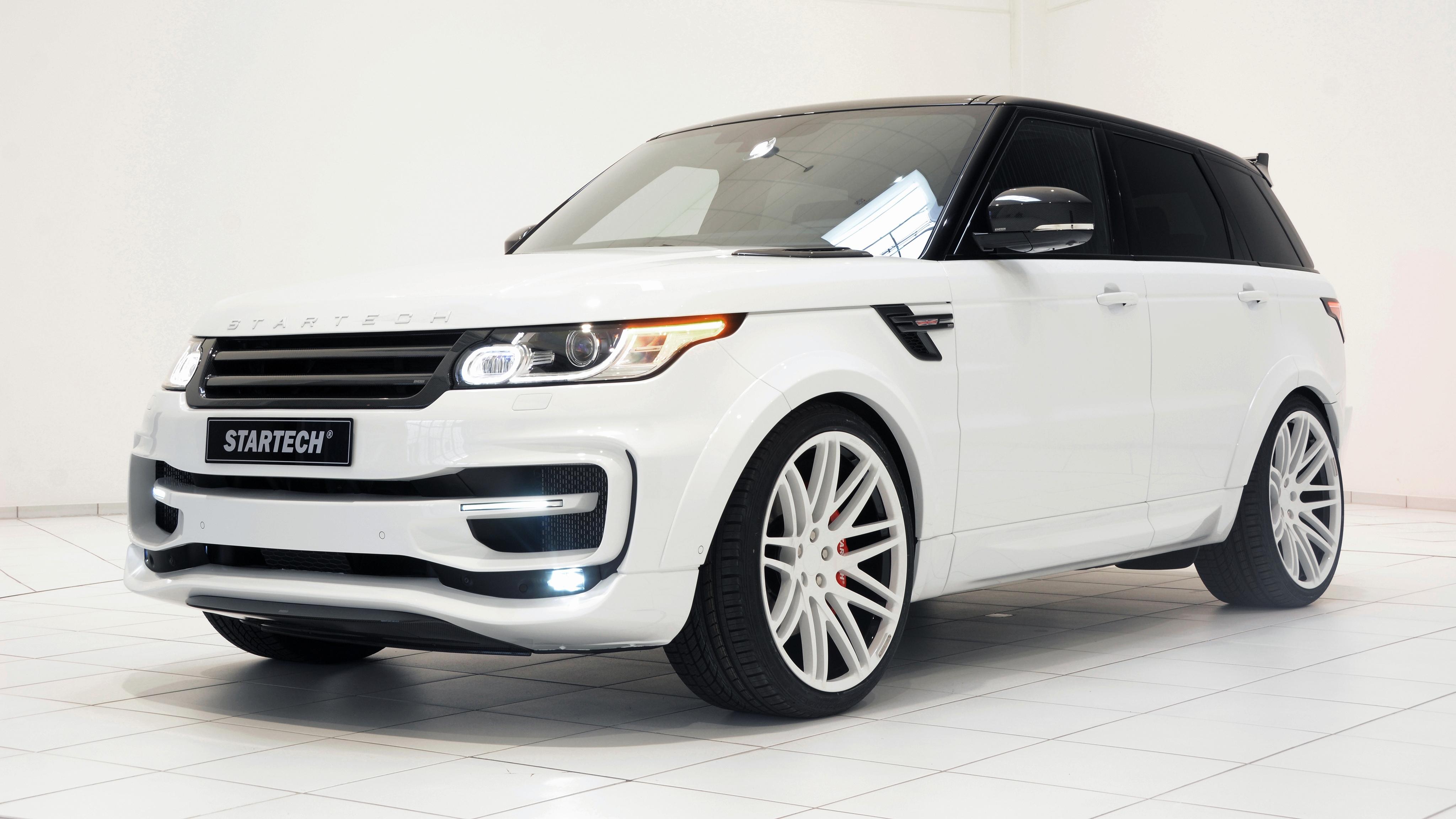 59700 скачать обои Тачки (Cars), Рендж Ровер (Range Rover), 2014, Startech, Белый, Вид Сбоку - заставки и картинки бесплатно