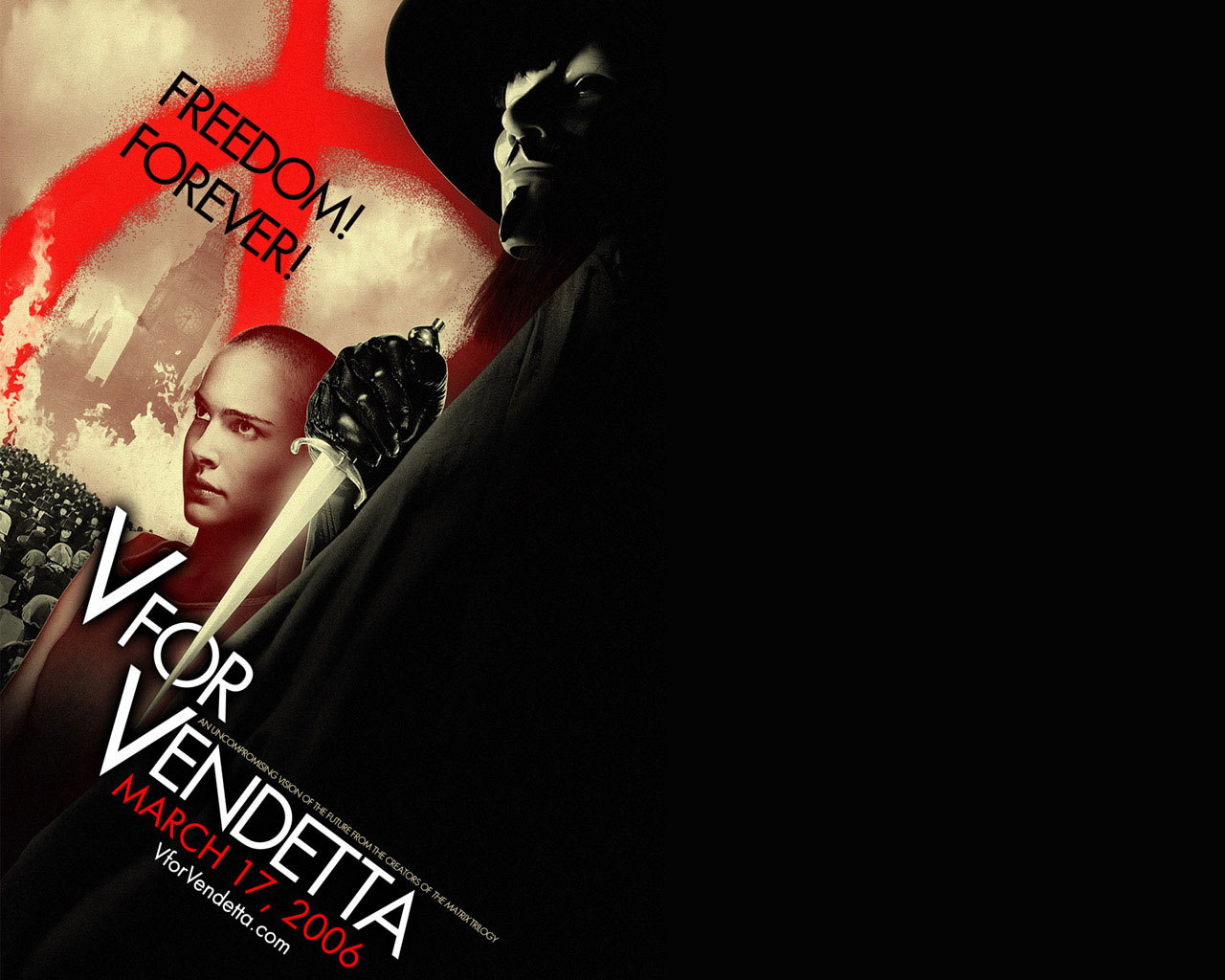 22332 download wallpaper Cinema, V For Vendetta screensavers and pictures for free